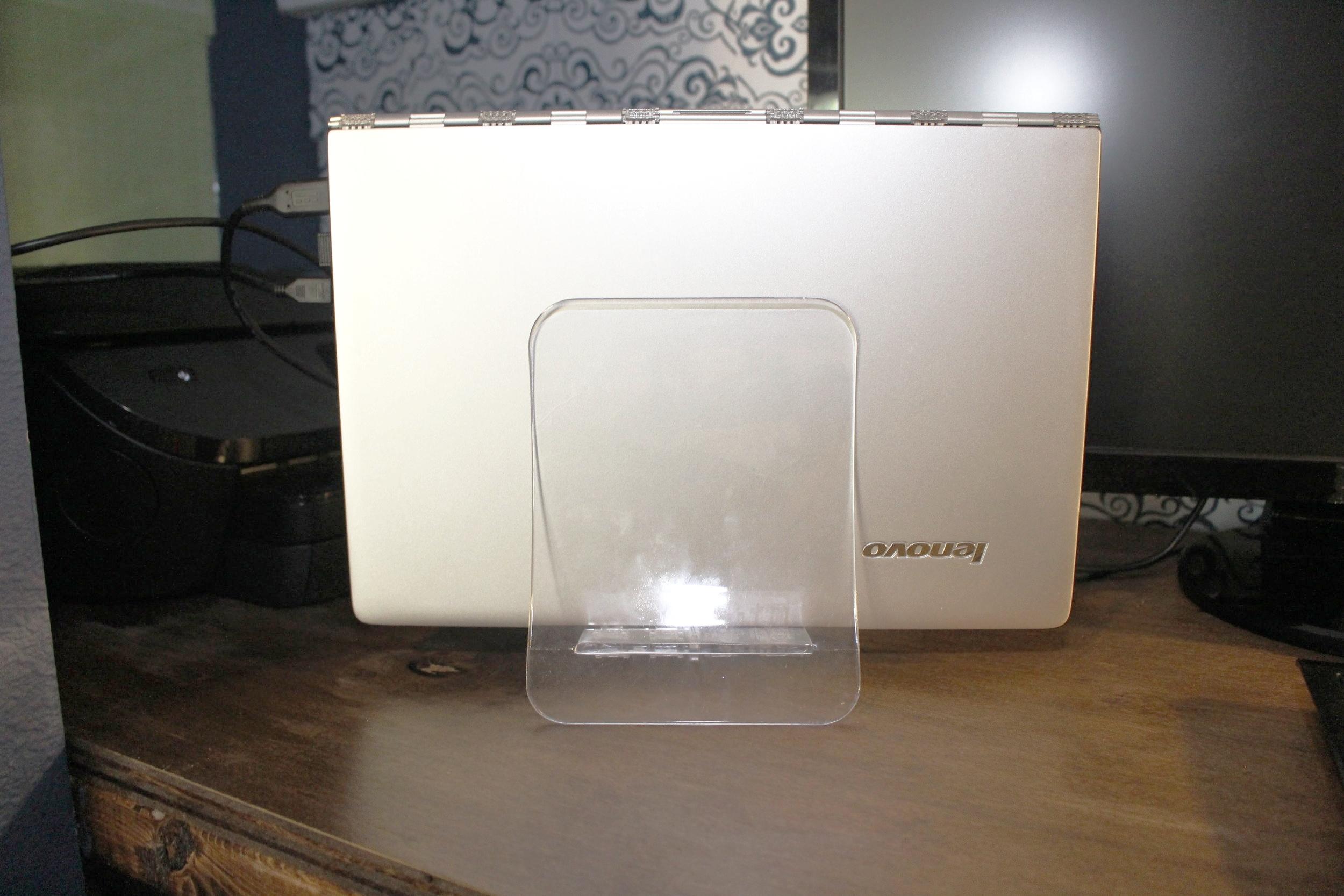 Ikea napkin holder as laptop stand