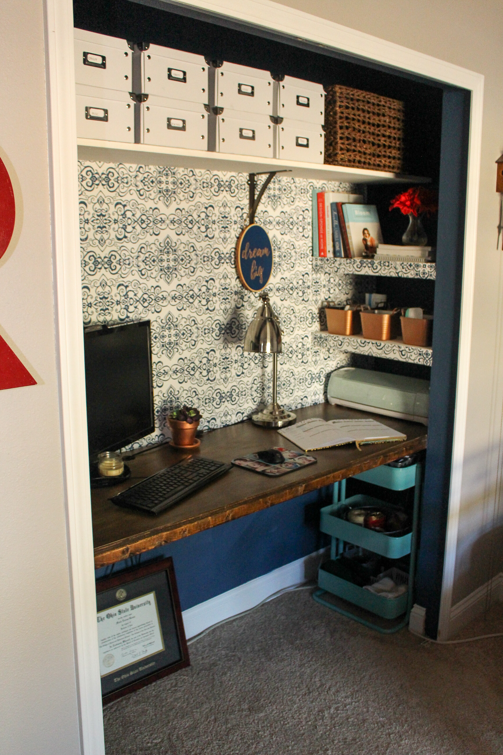 Closet Office DIY for less than $100