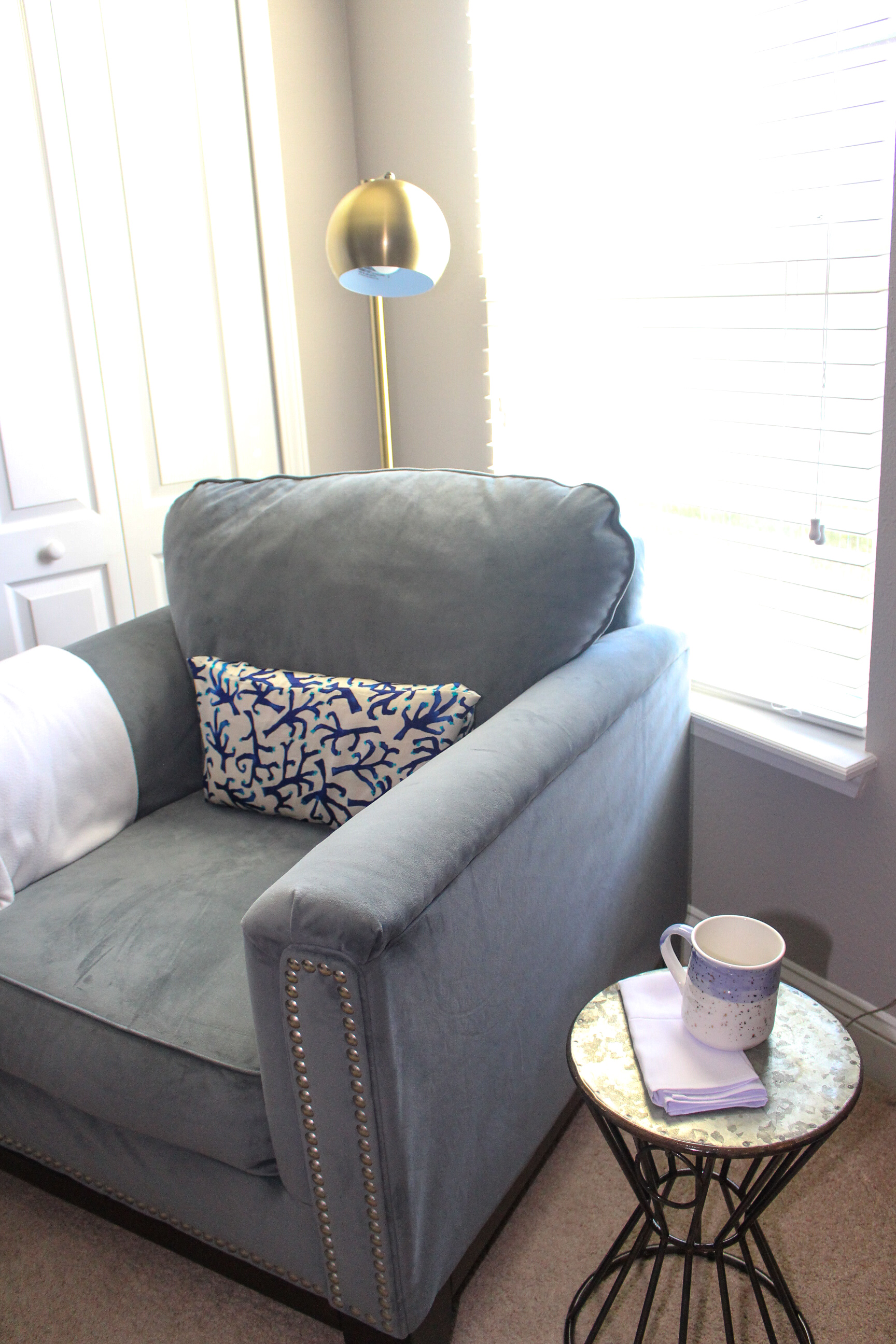Home office reading nook