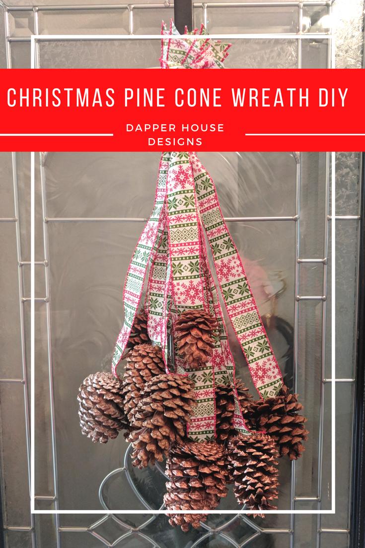 Christmas Pine Cone Wreath DIY