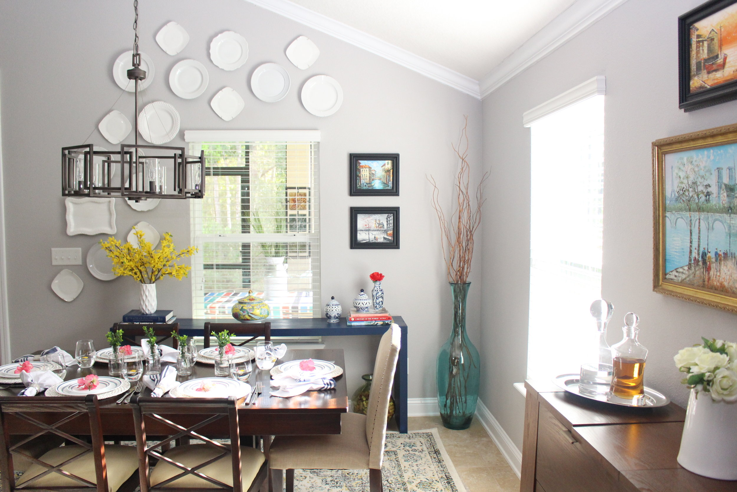 Light & Bright Spring Home Tour + Styling Tips - The Dining Room - House by the Preserve