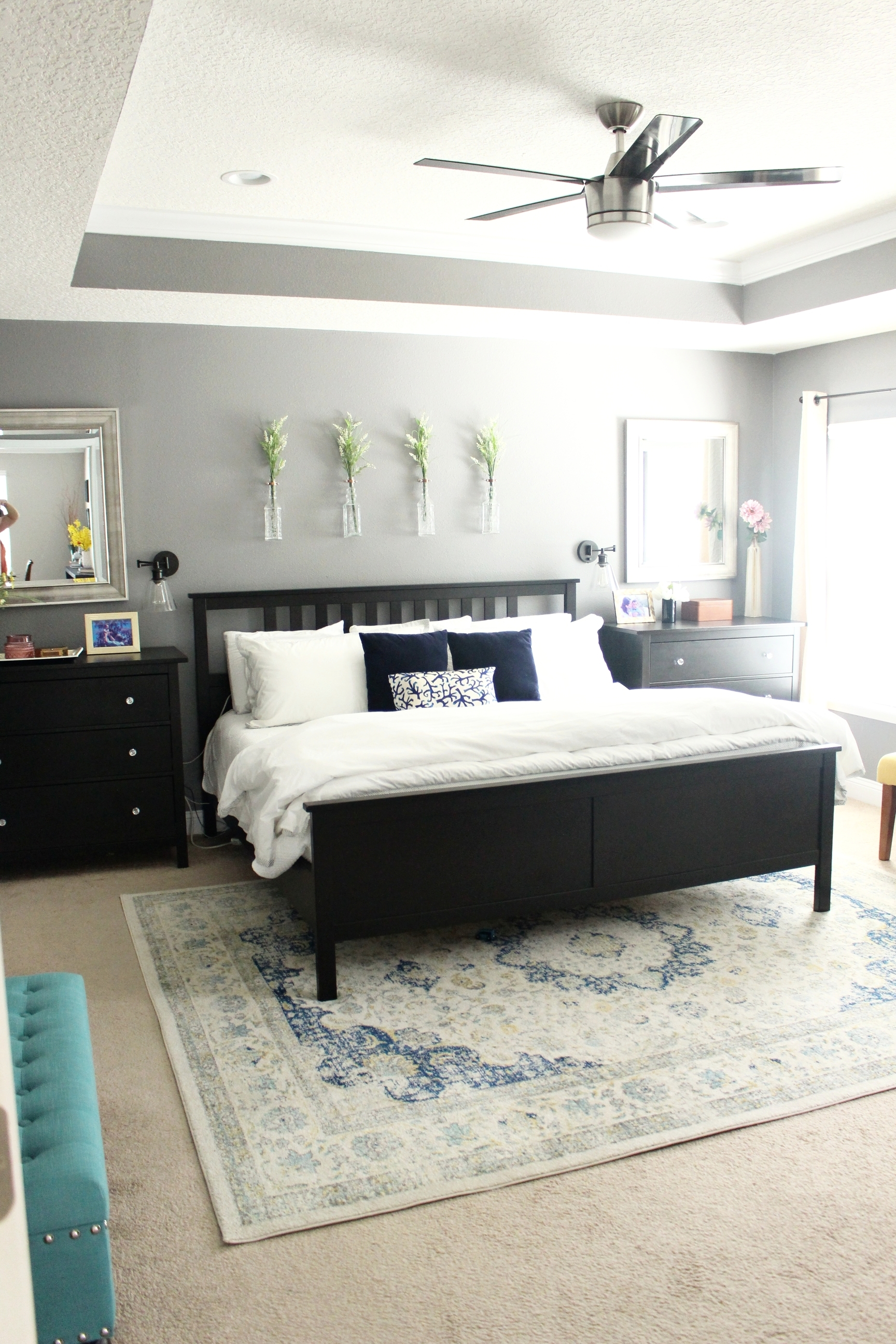 Light & Bright Spring Home Tour + Styling Tips - The Master Bedroom - House by the Preserve
