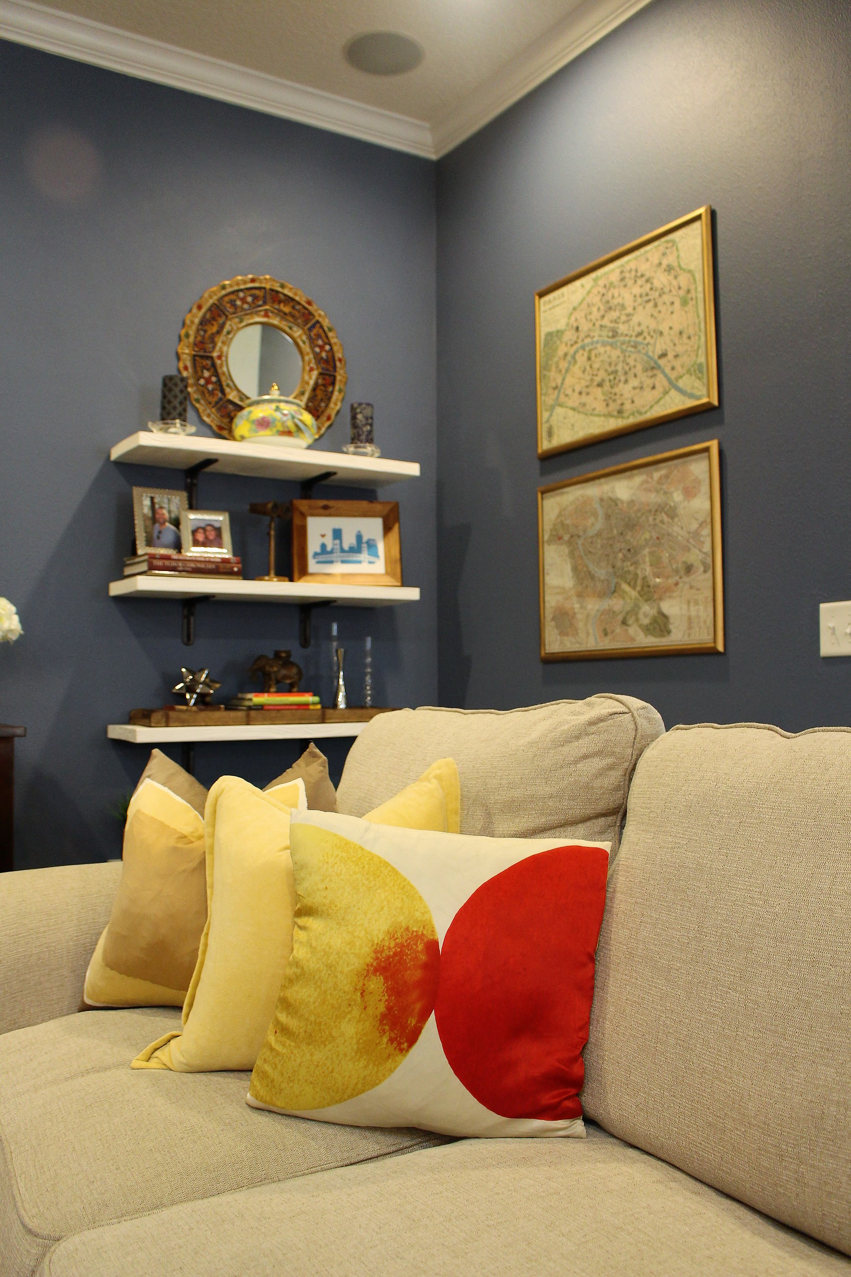 Selecting big ticket items for the room first will help you narrow down your color choices.