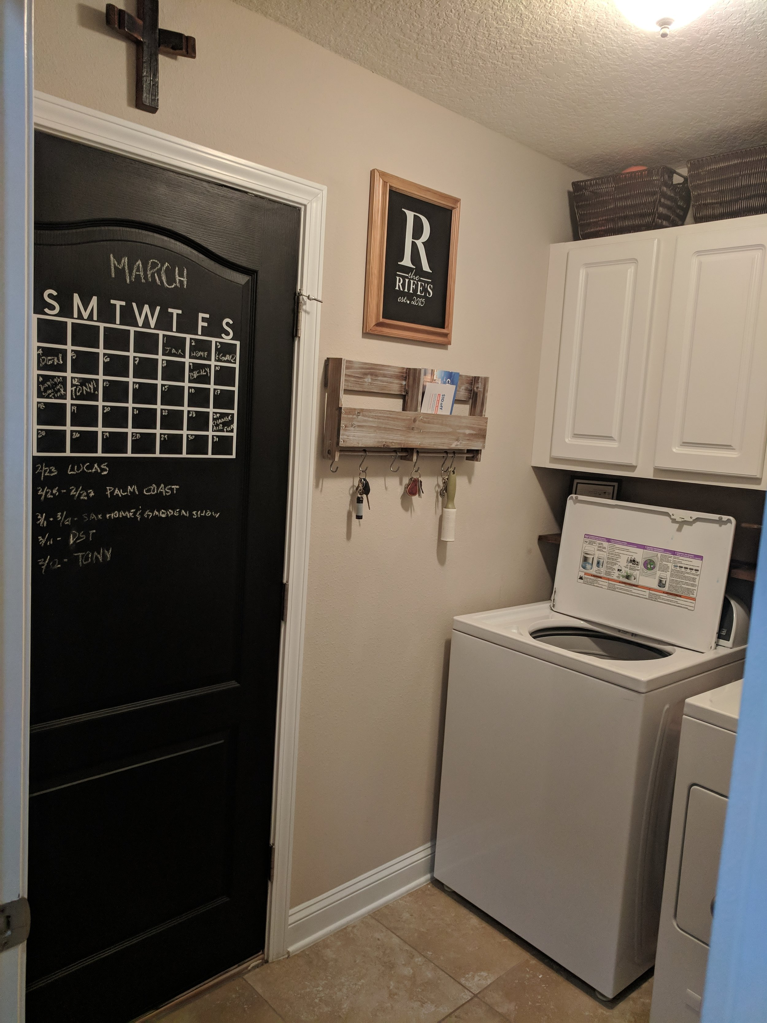 laundry room budget makeover