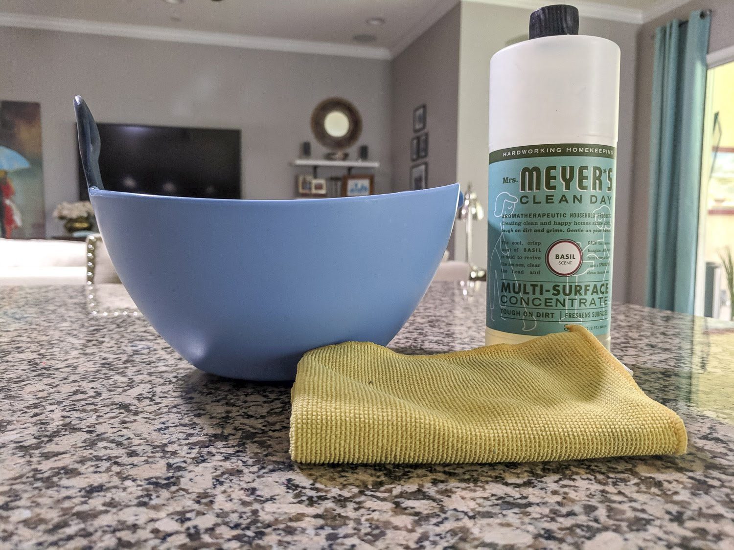 Mrs. Meyers Concentrate Cleaner  - a little goes a long way!