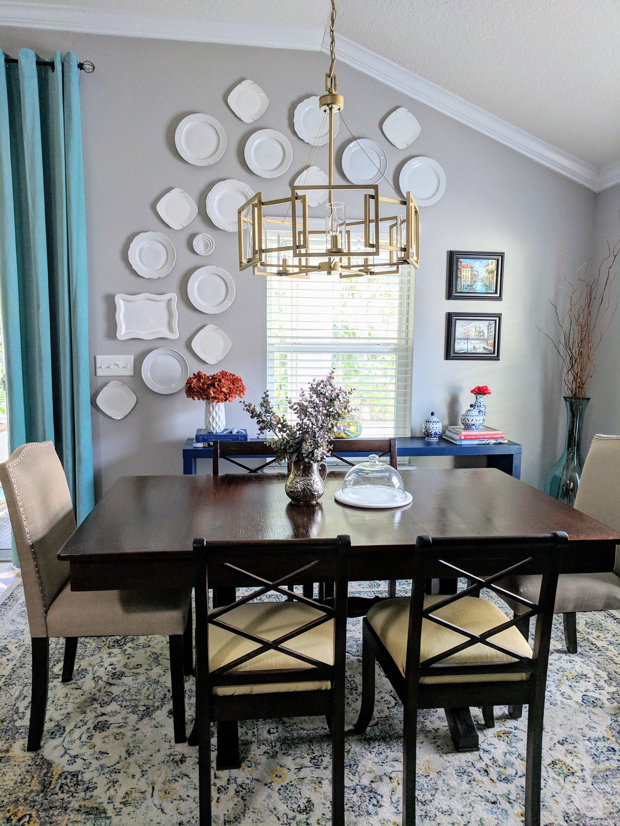 dining room light DIY