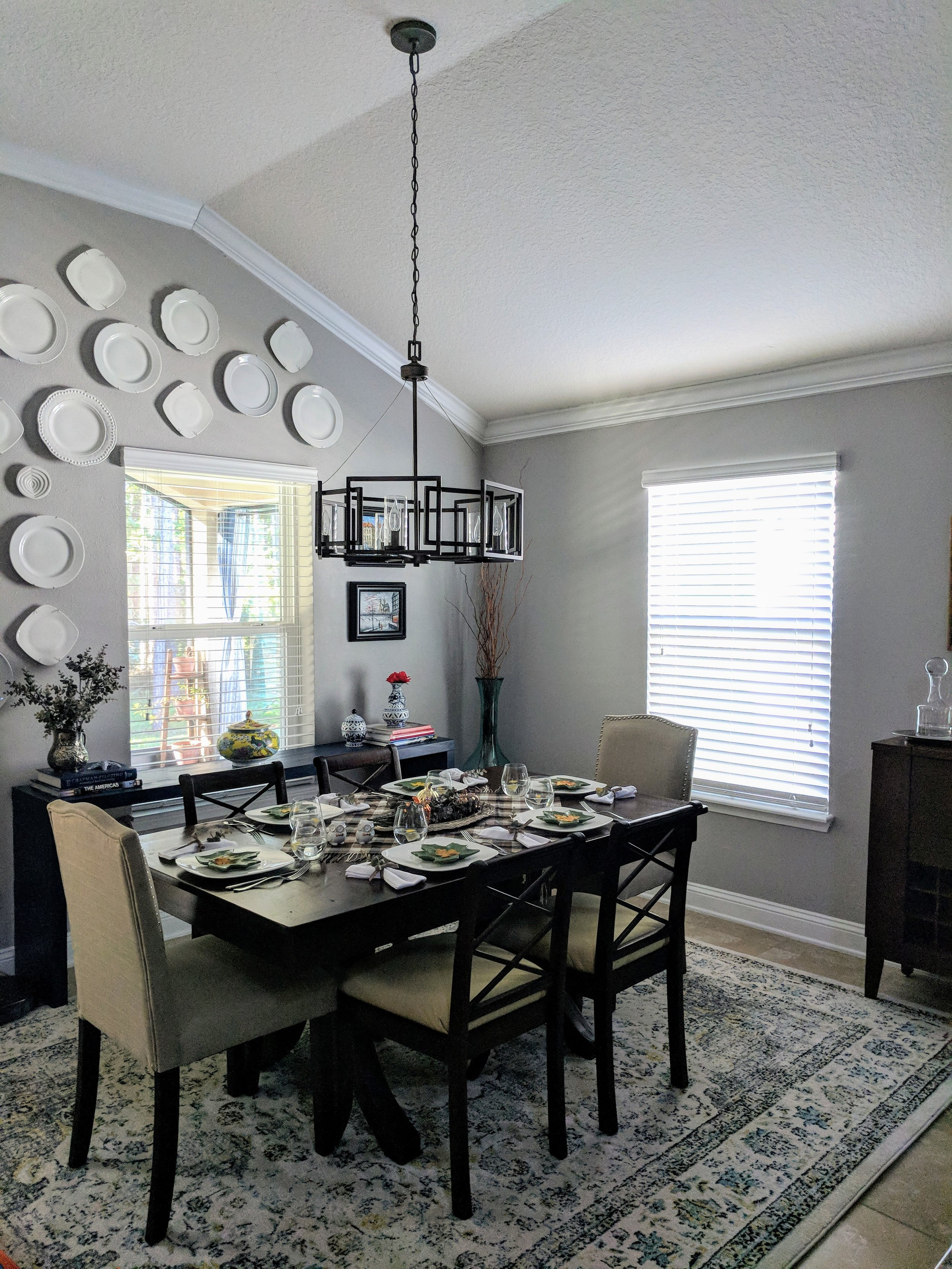 dining room light before
