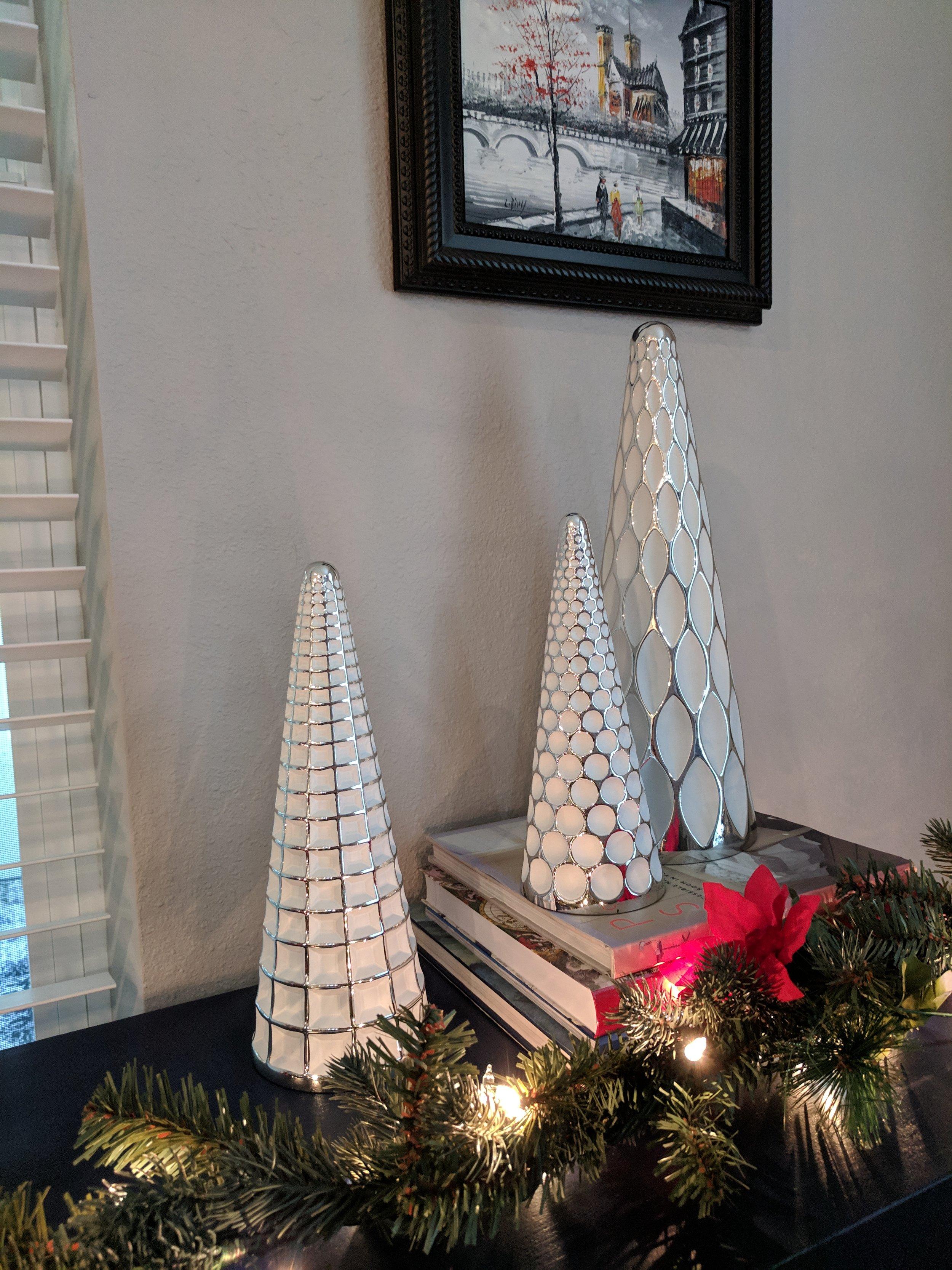 A white Christmas trees