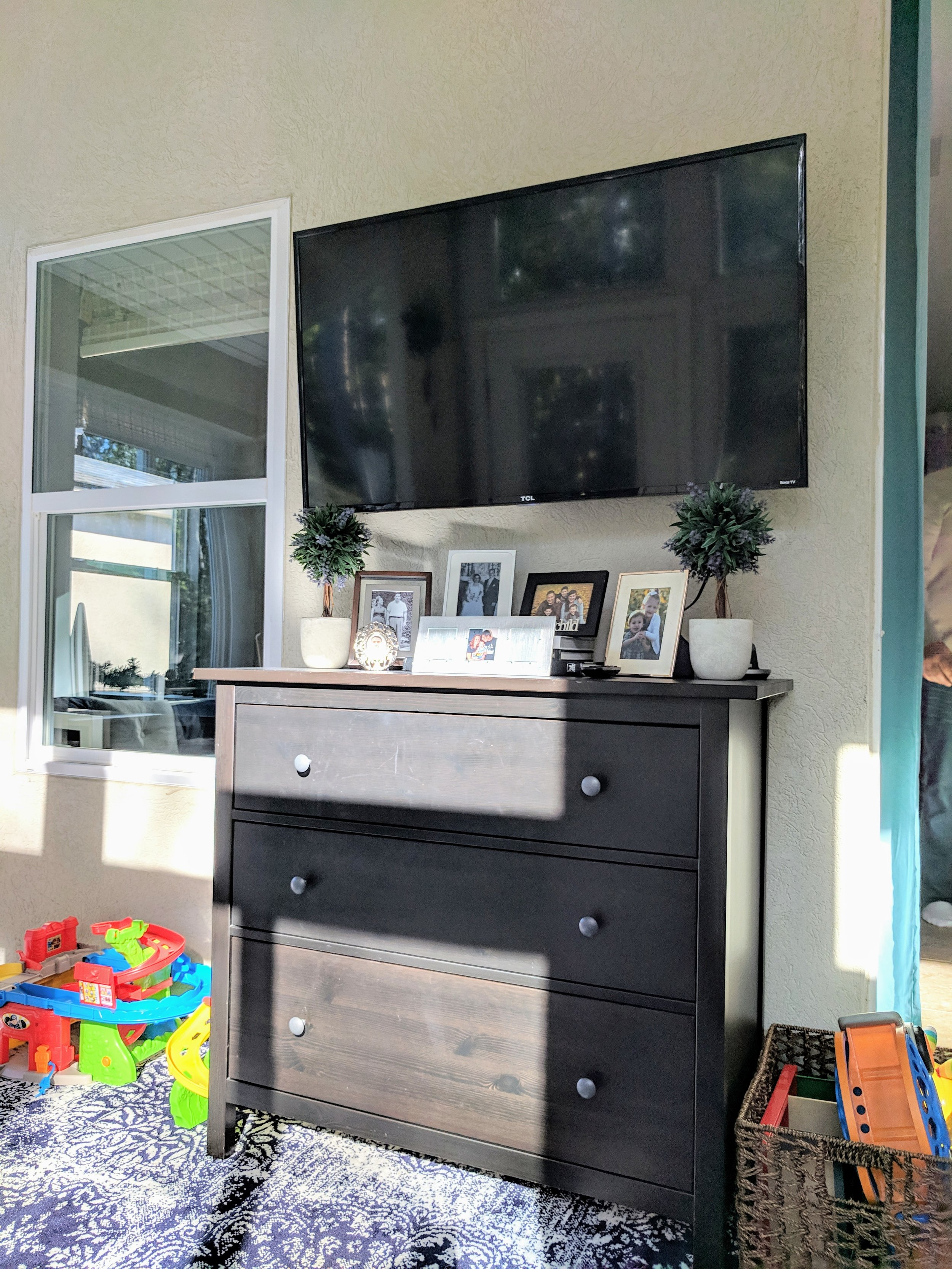 TV console and toy storage