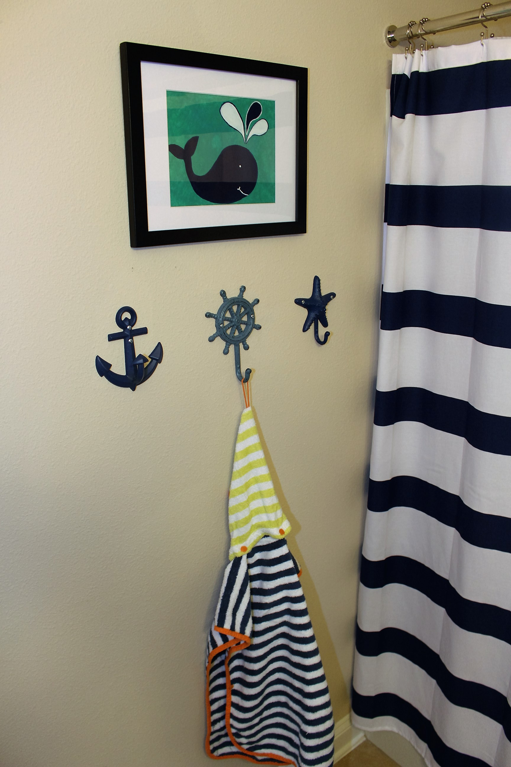Nautical Kids bathroom before