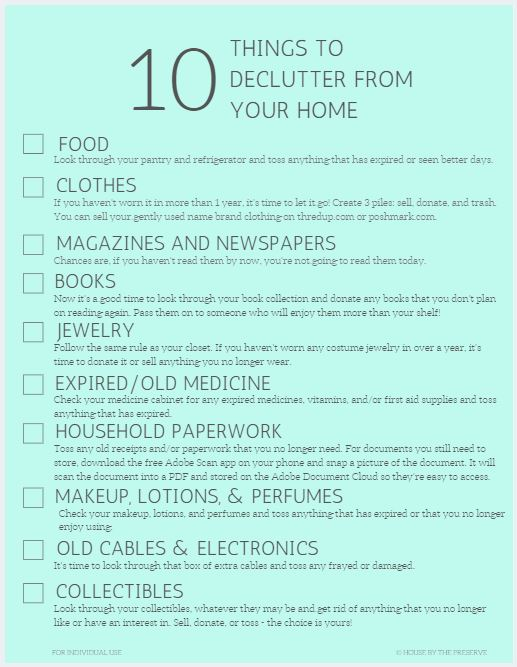 10 Things To Declutter From your Home - House by the Preserve