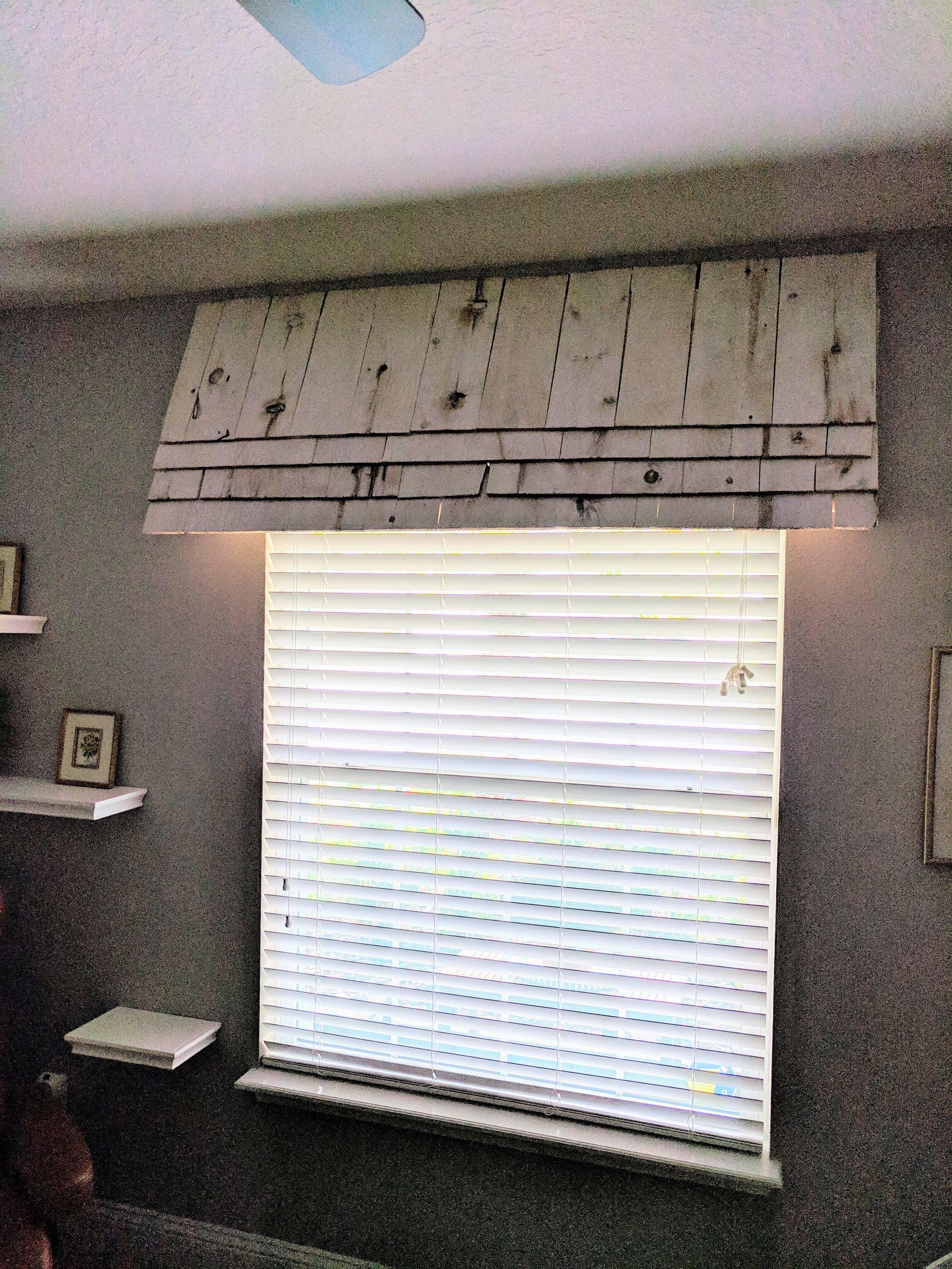 nursery window awning DIY