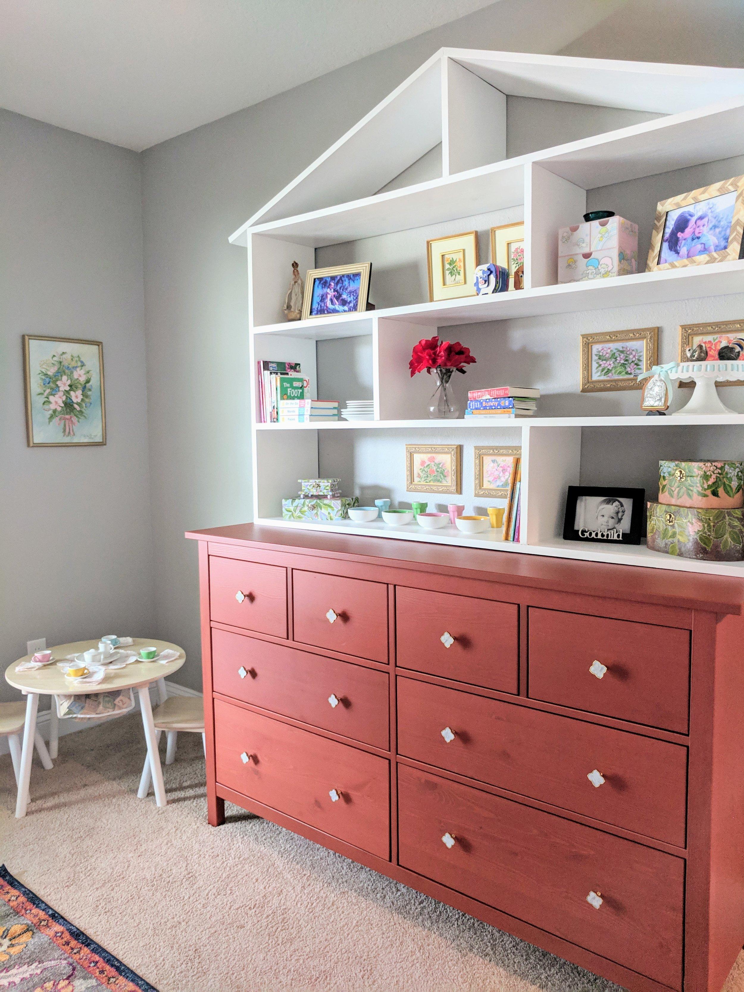 playhouse wall shelves DIY