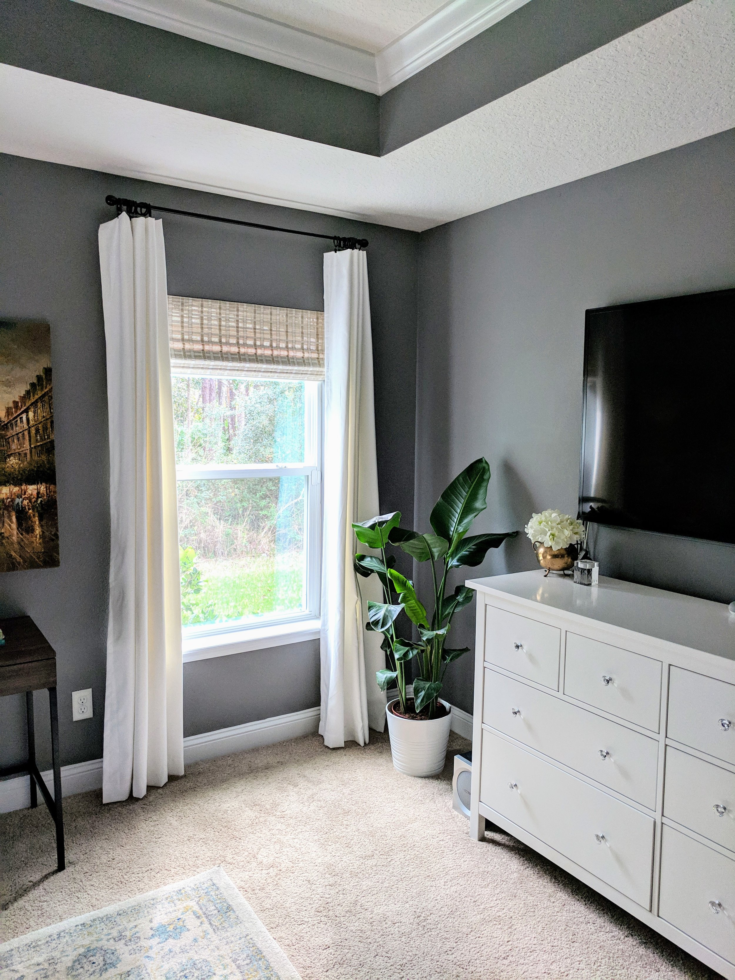 AFTER: Hanging curtains at the right height.