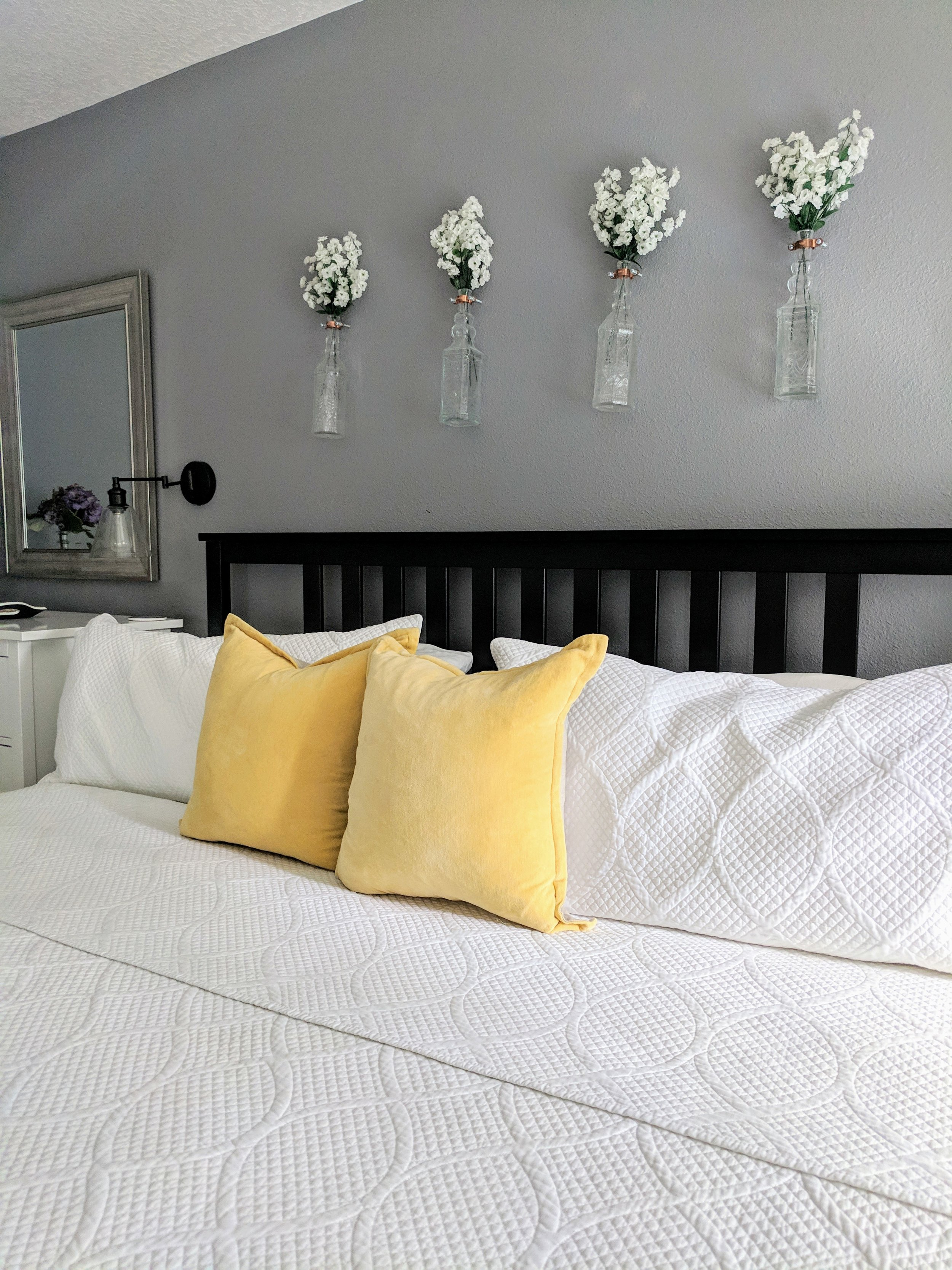 pop of color with throw pillows