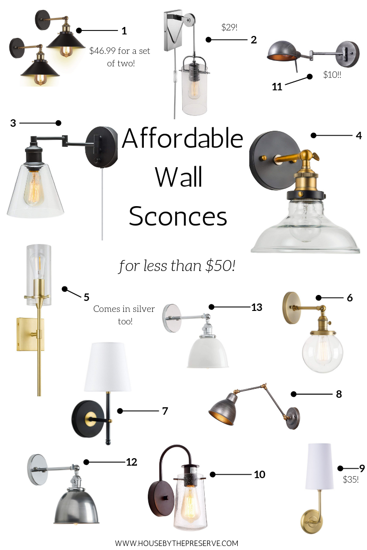 Affordable Wall Sconces for less than $50! - House by the Preserve.png