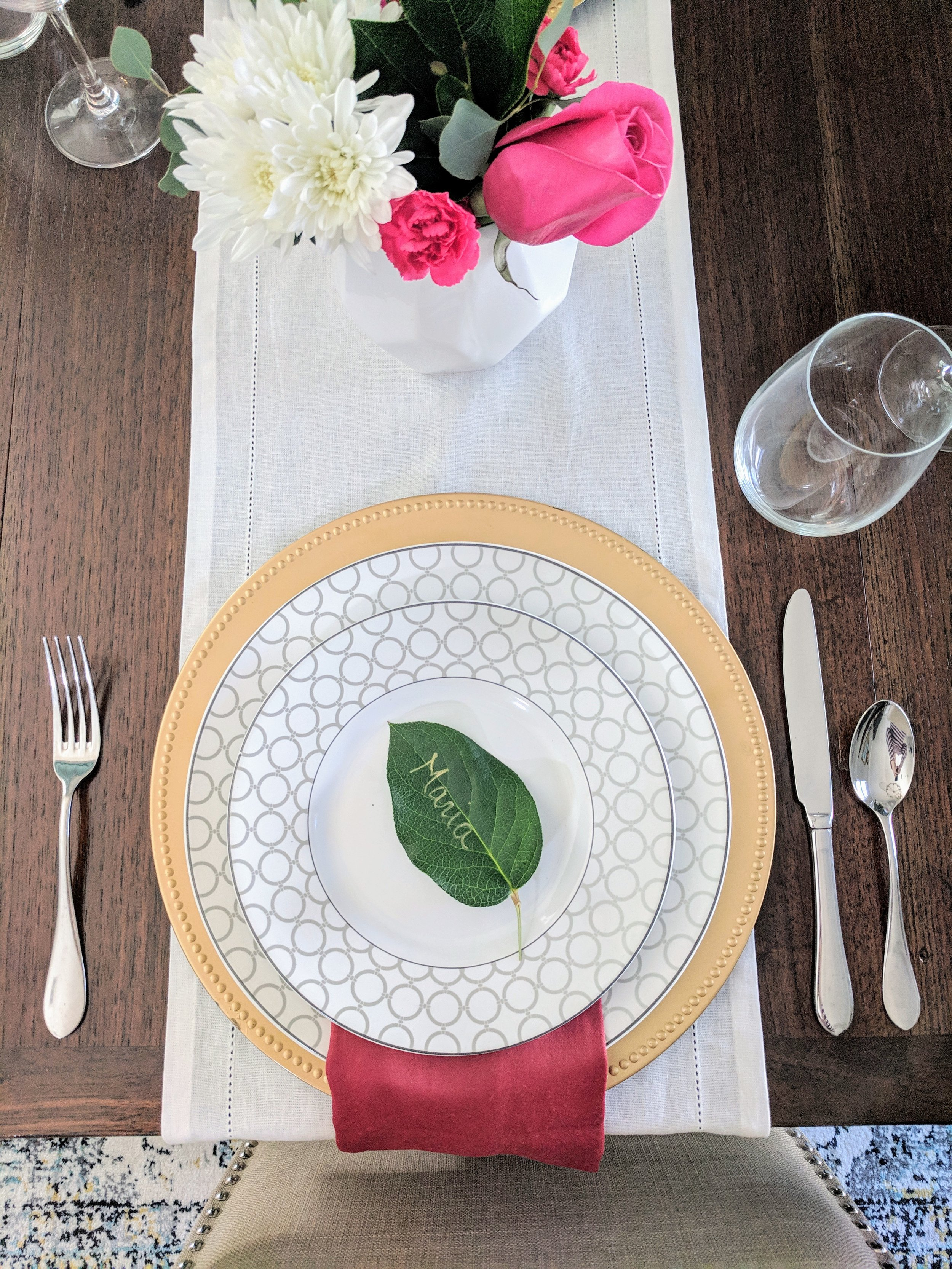 valentines day tablescape for two