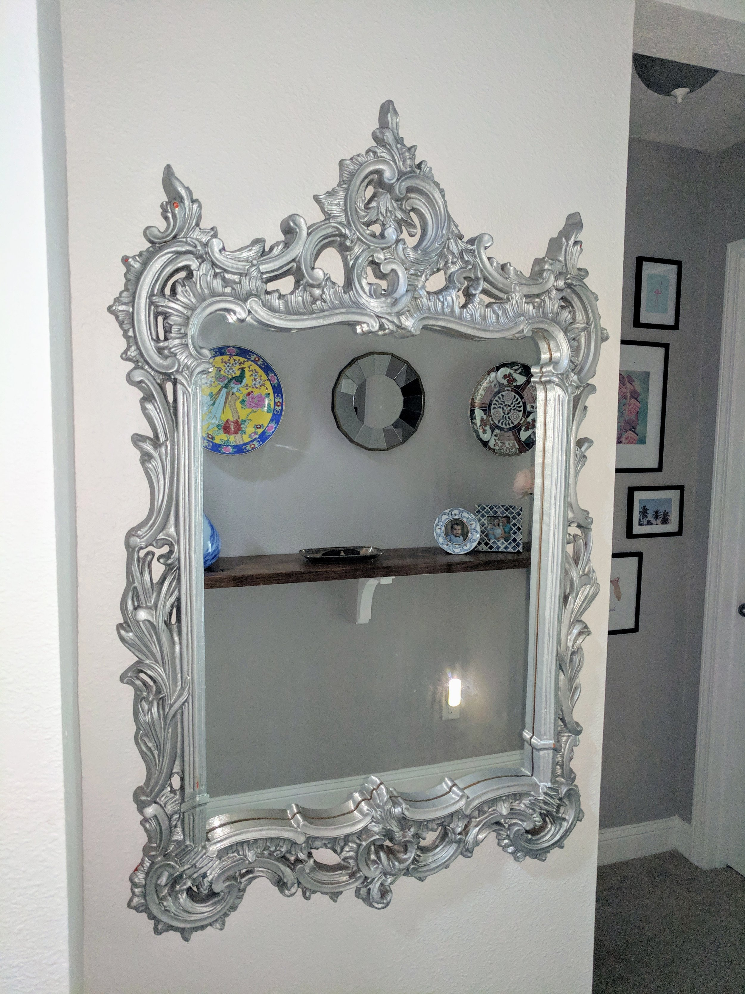 What the mirror looked like before
