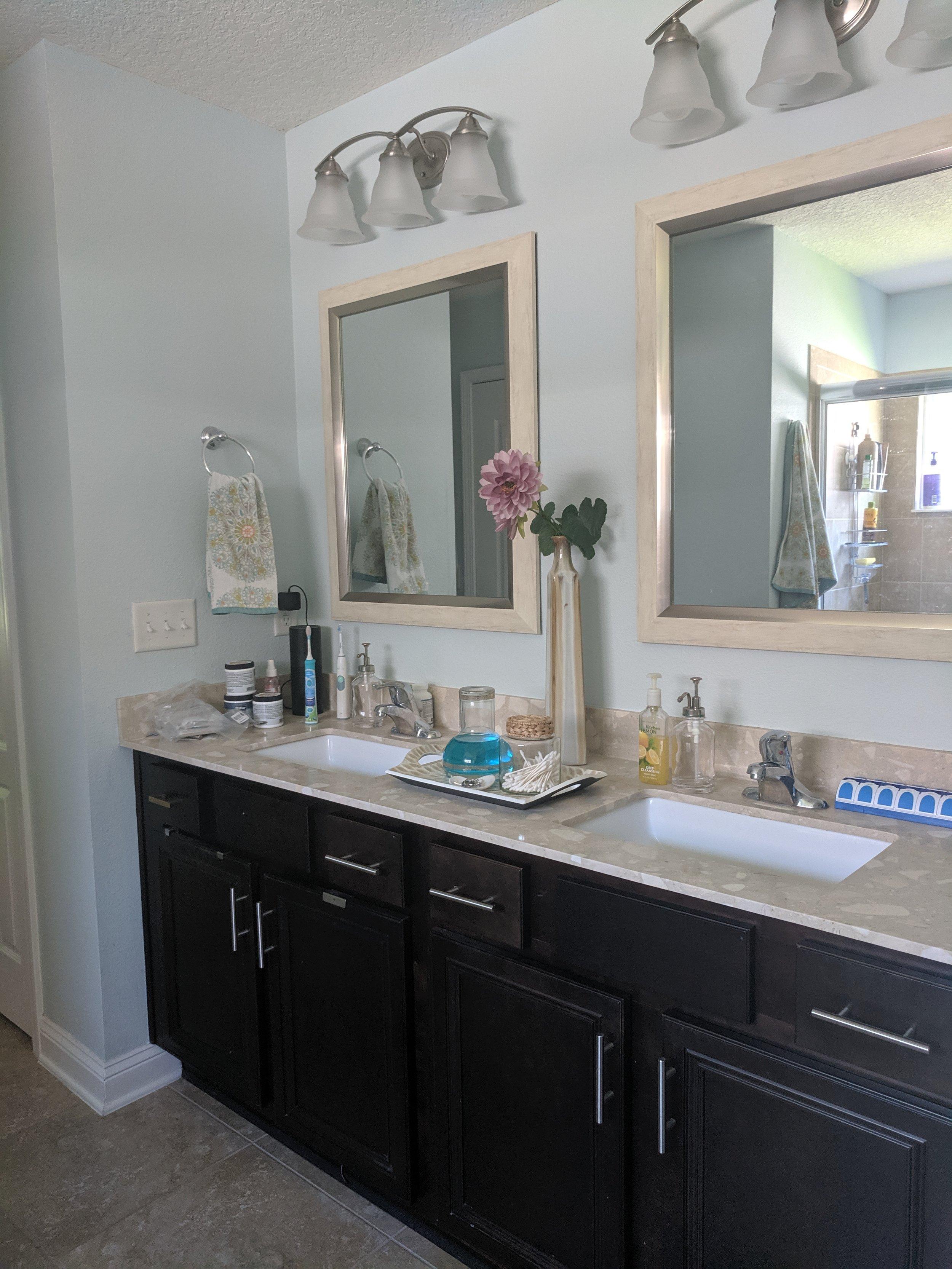 BEFORE - Master bathroom vanity