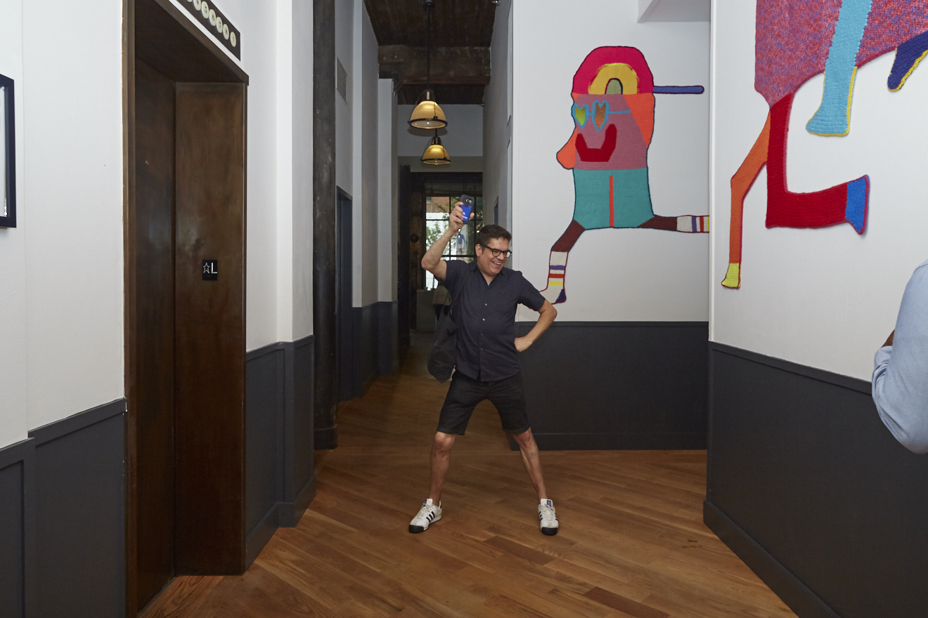 Noel Alicea at Caroline Wells Chandler Opening Reception for Queer|Art|Pride at Wythe Hotel, June 2017. (Photo by Eric McMatt)