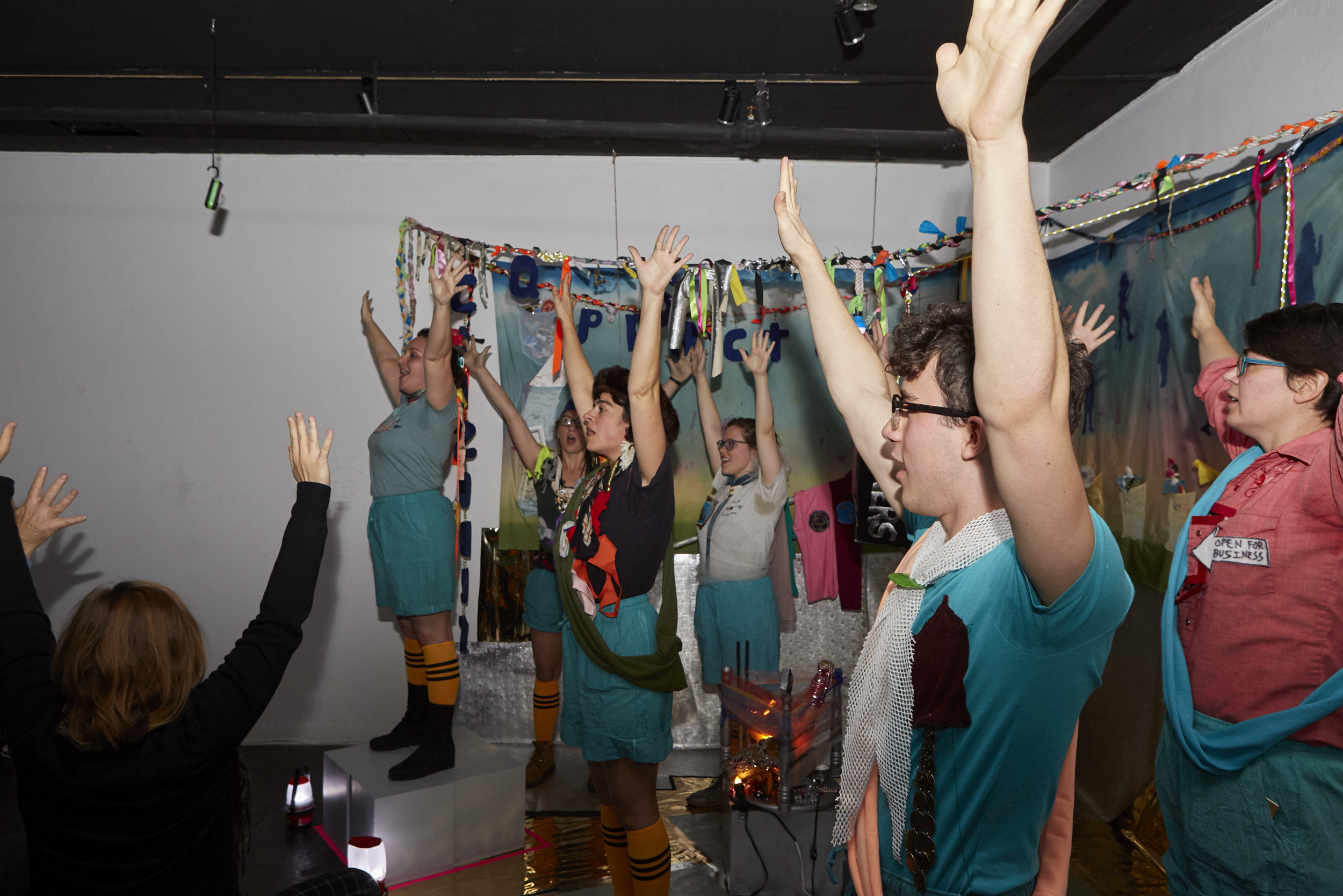 Queer Scouts Performance Group at Live Event of QAM 2015-2016 Annual Exhibition (Photo by Eric McNatt)