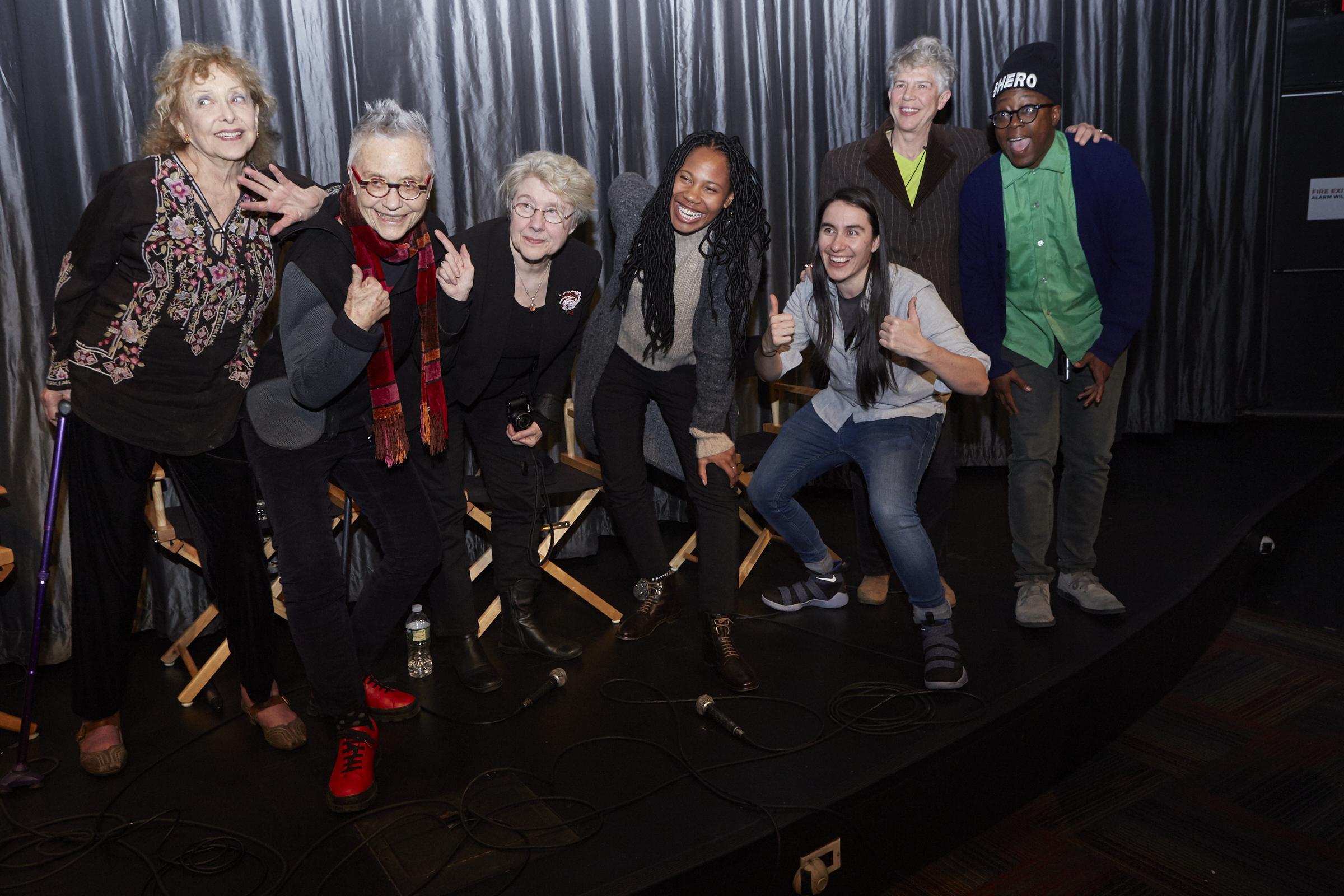 Carolee Scheenmann, Barbara Hammer, Martha Rosler, Fair Brane, Vanessa Haroutunian, Su Friedrich, and Cheryl Dunye (Photo by Eric McNatt)