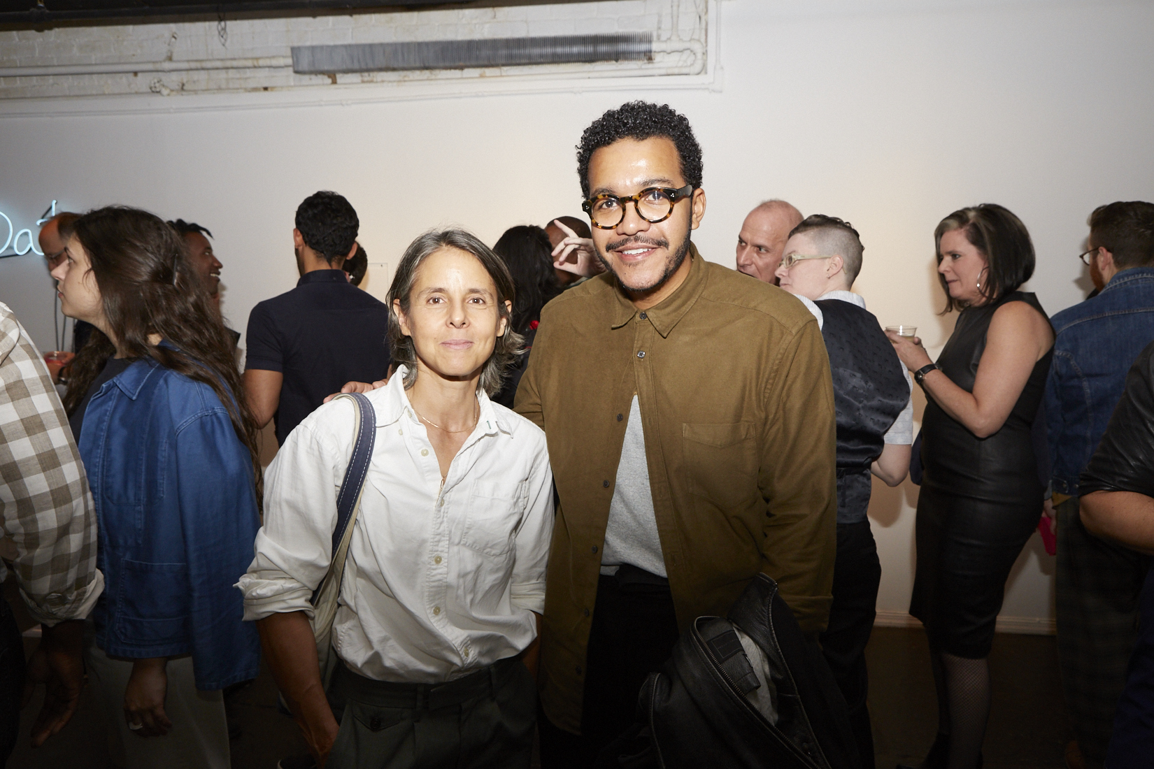 Nancy Brooks Brody and Troy Michie at Opening Reception of QAM 2016-2017 Annual Exhibition  (Photo by Eric McNatt)