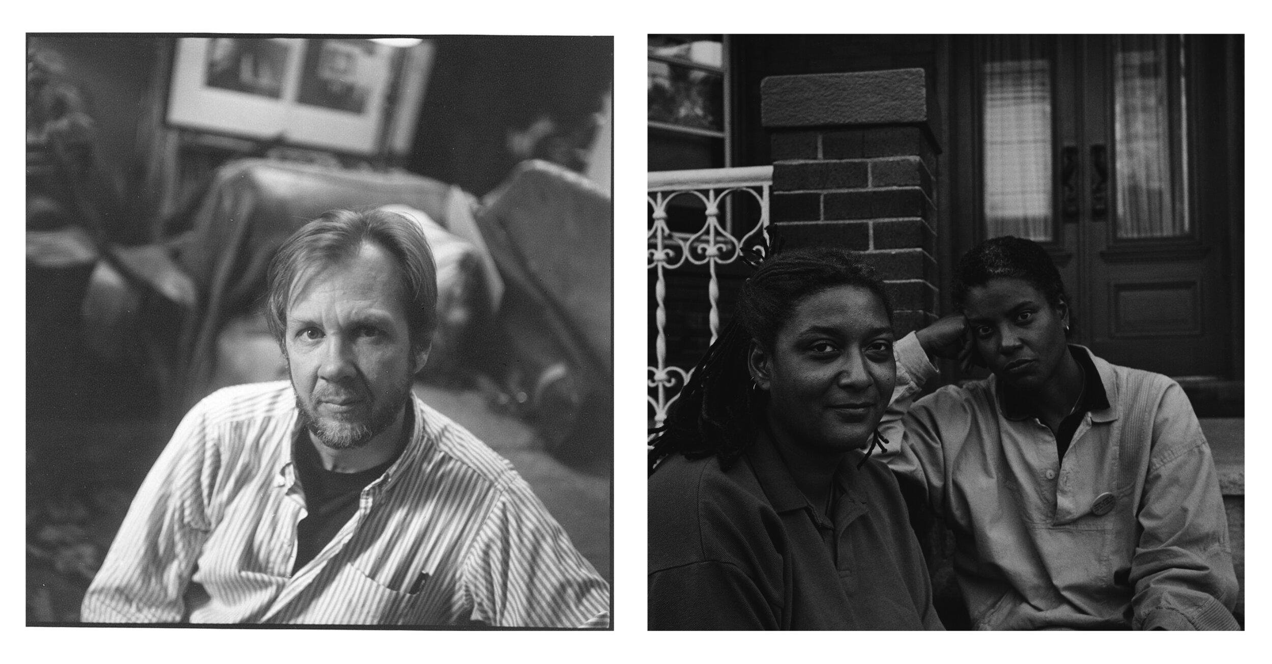 Portrait of Robert Giard;  Cheryl Clarke and Jewelle Gomez , Courtesy The Estate of Robert Giard