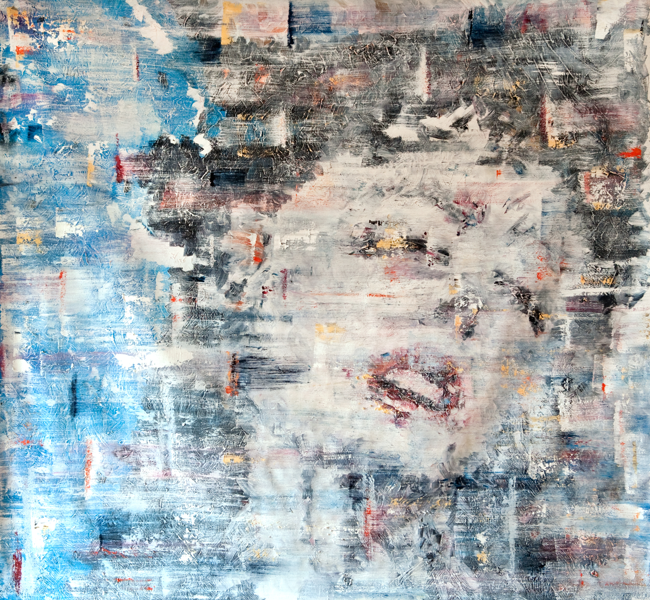 lust no. 1        oil on loose canvas 56x56 inch