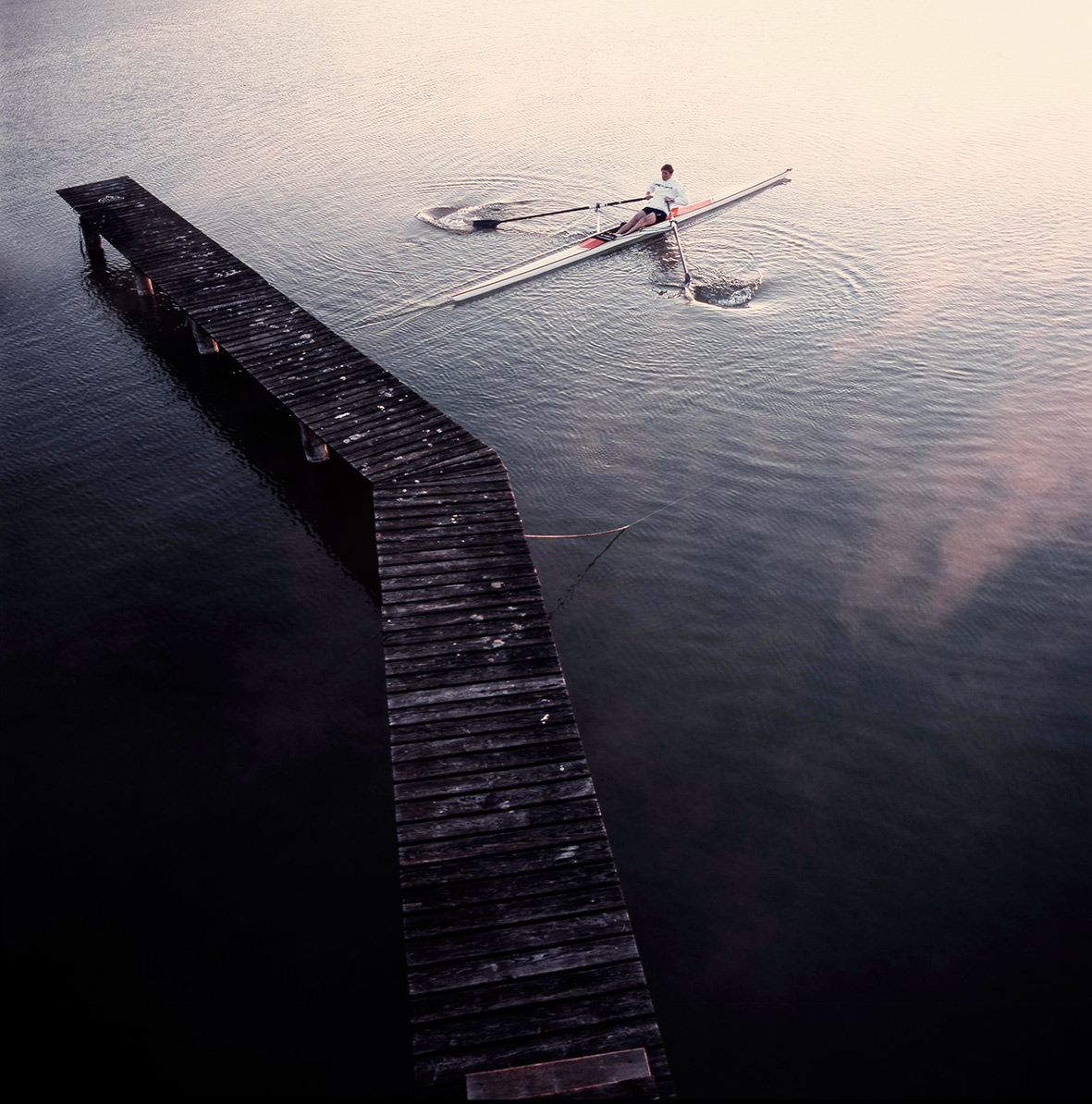 starting the day with  rowing