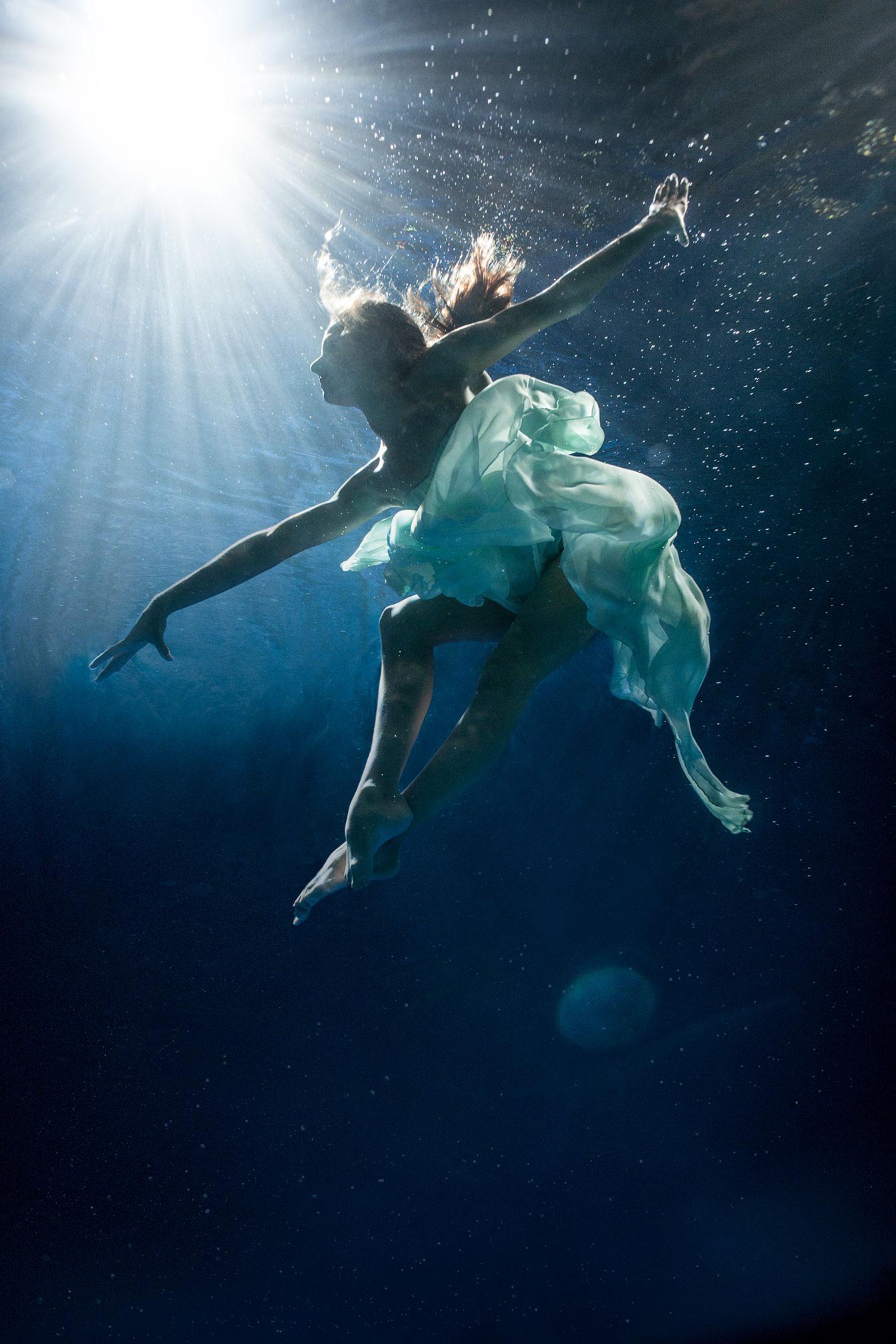 under water dance
