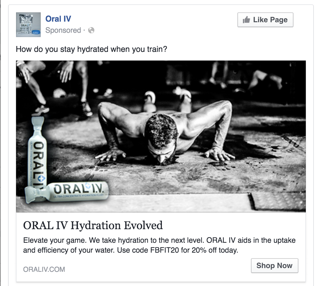 ORAL I.V. is a hydration company focused on increasing its brand awareness and acquiring customers for it's online business.  OptimumLift has been running their Facebook, Instagram, Twitter and Google ads for over 3 years.  Customer acquisition costs have continually been driven down while revenue has grown at 100% for the last 2 years.