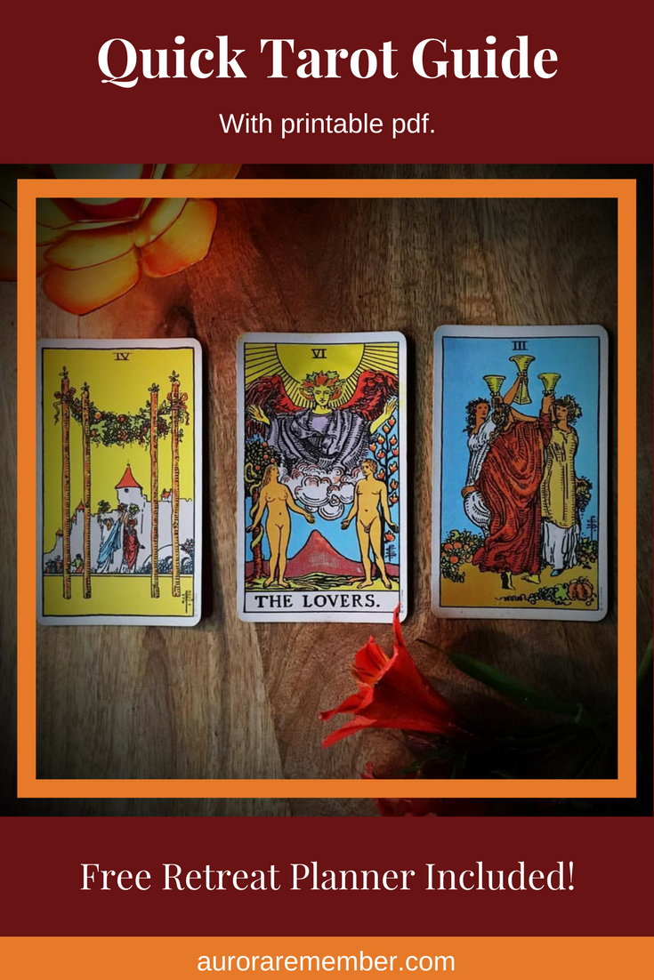 Quick Tarot Guide with printable pdf. - Free retreat planner inside