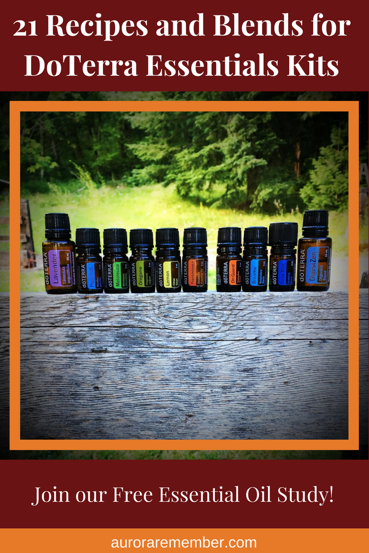 21 Recipes and Blends for DoTerra Essentials Kits