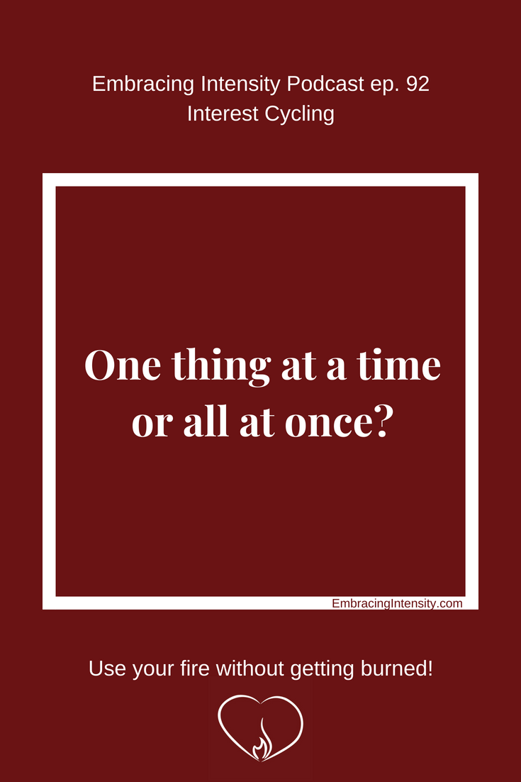 One thing at a time or all at once?