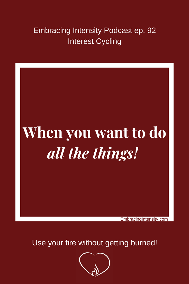 When you want to do ALL THE THINGS!