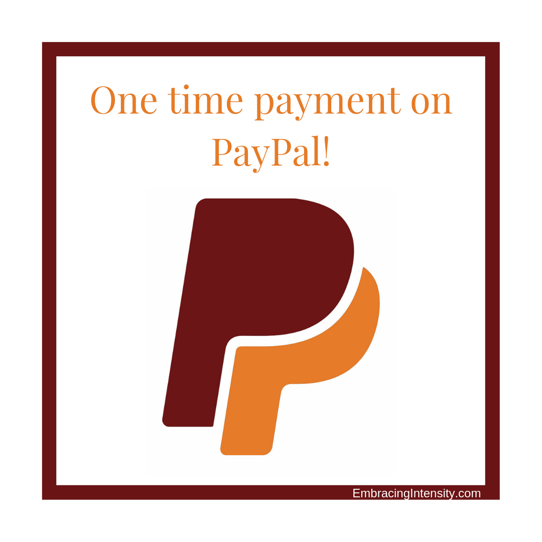 Support Embracing Intensity on Paypal