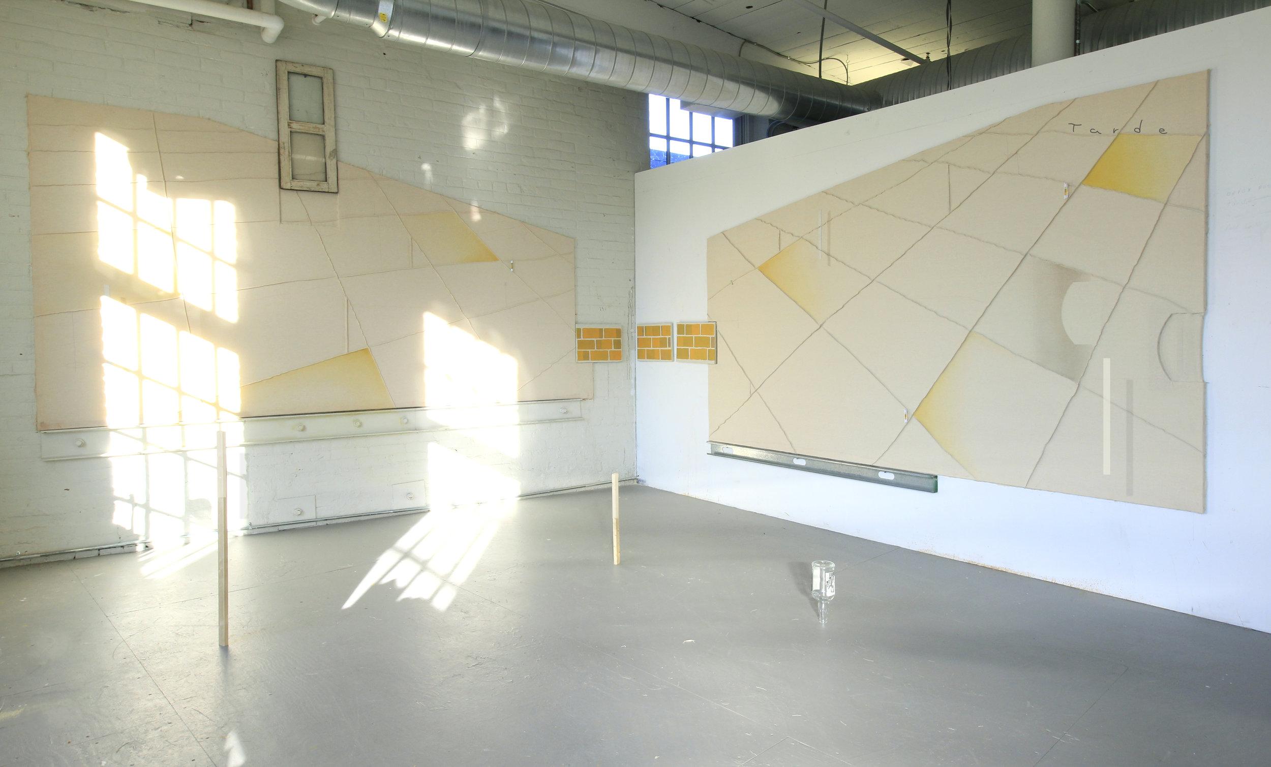 Aproximate Position of the Sun. At Mass Moca studios
