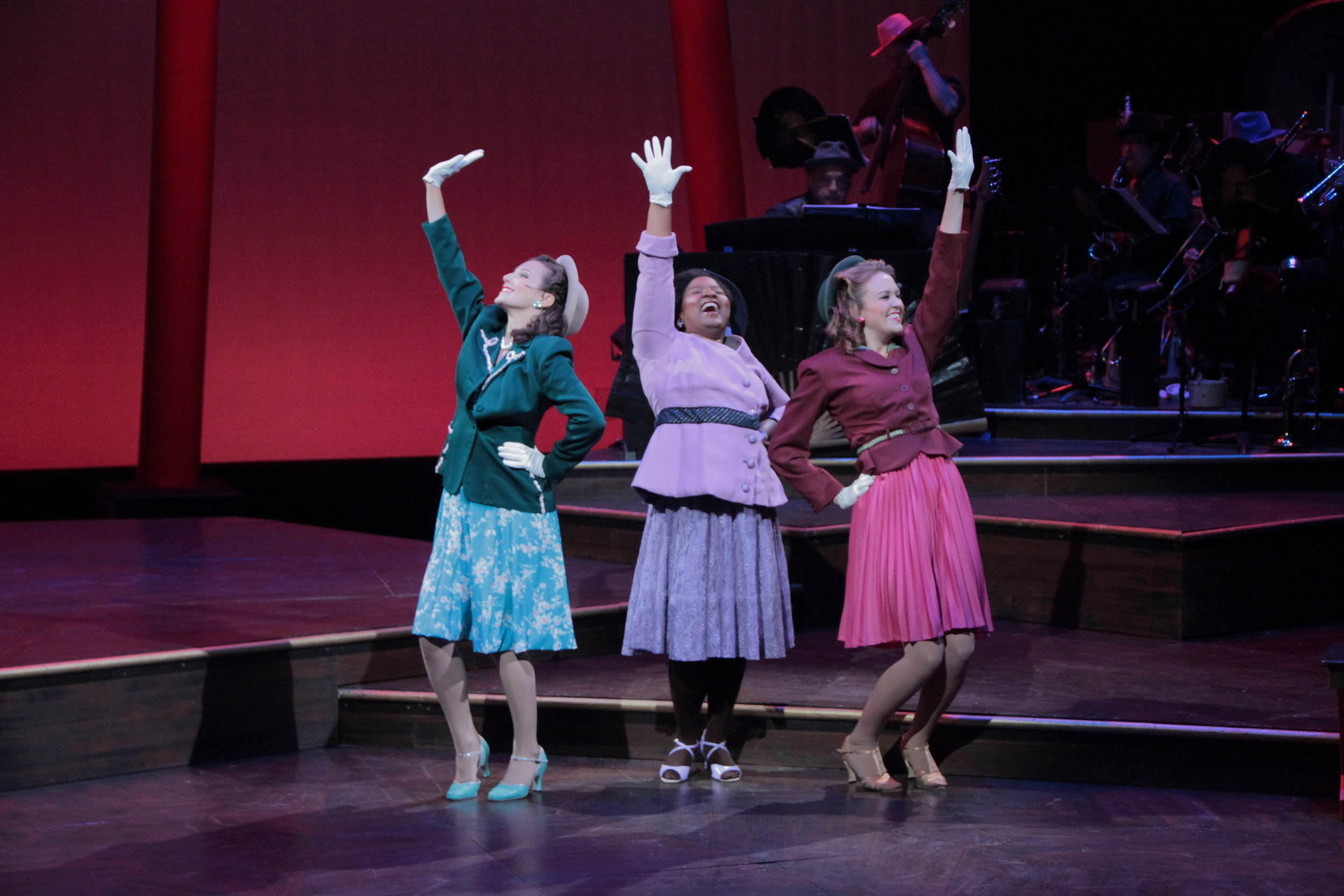 """Hot Mikado"" - Hope Summer Repertory Theatre. Also pictured: Olivia Donalson and Maddie Shea Baldwin"