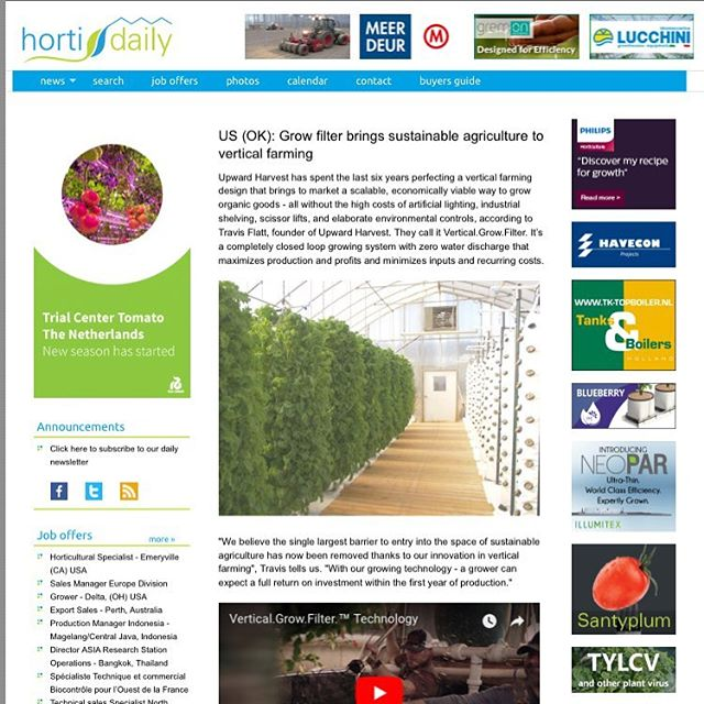 We're thankful to have been featured recently in another publication!! This was our first global article - directed towards the international horticultural industry. Check out the story by clicking the link in our bio.  #agriculture #global #verticalfarming #sustainable #aquaponics #fish #plants #nature #growth #eat #good #live #better