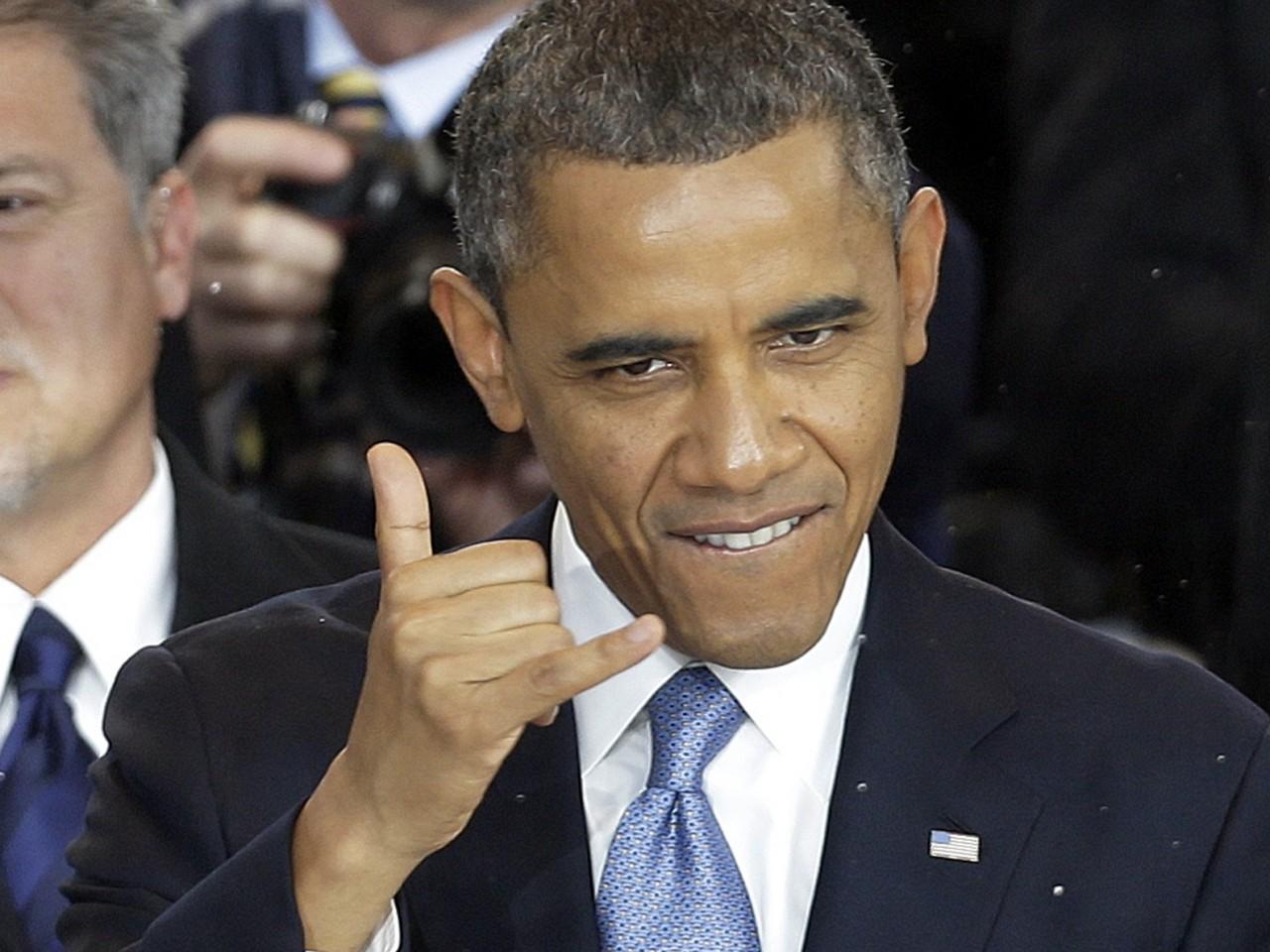Obama pumped