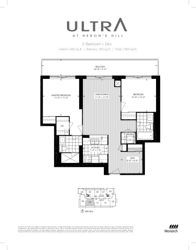 Floorplan of 2015 Sheppard Avenue East 3502