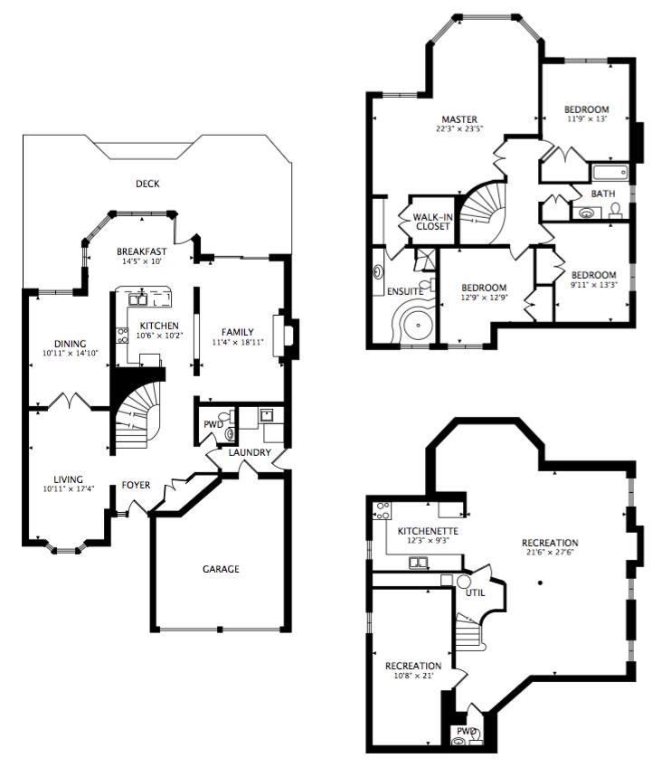 Floorplan of 1266 Fawndale Road