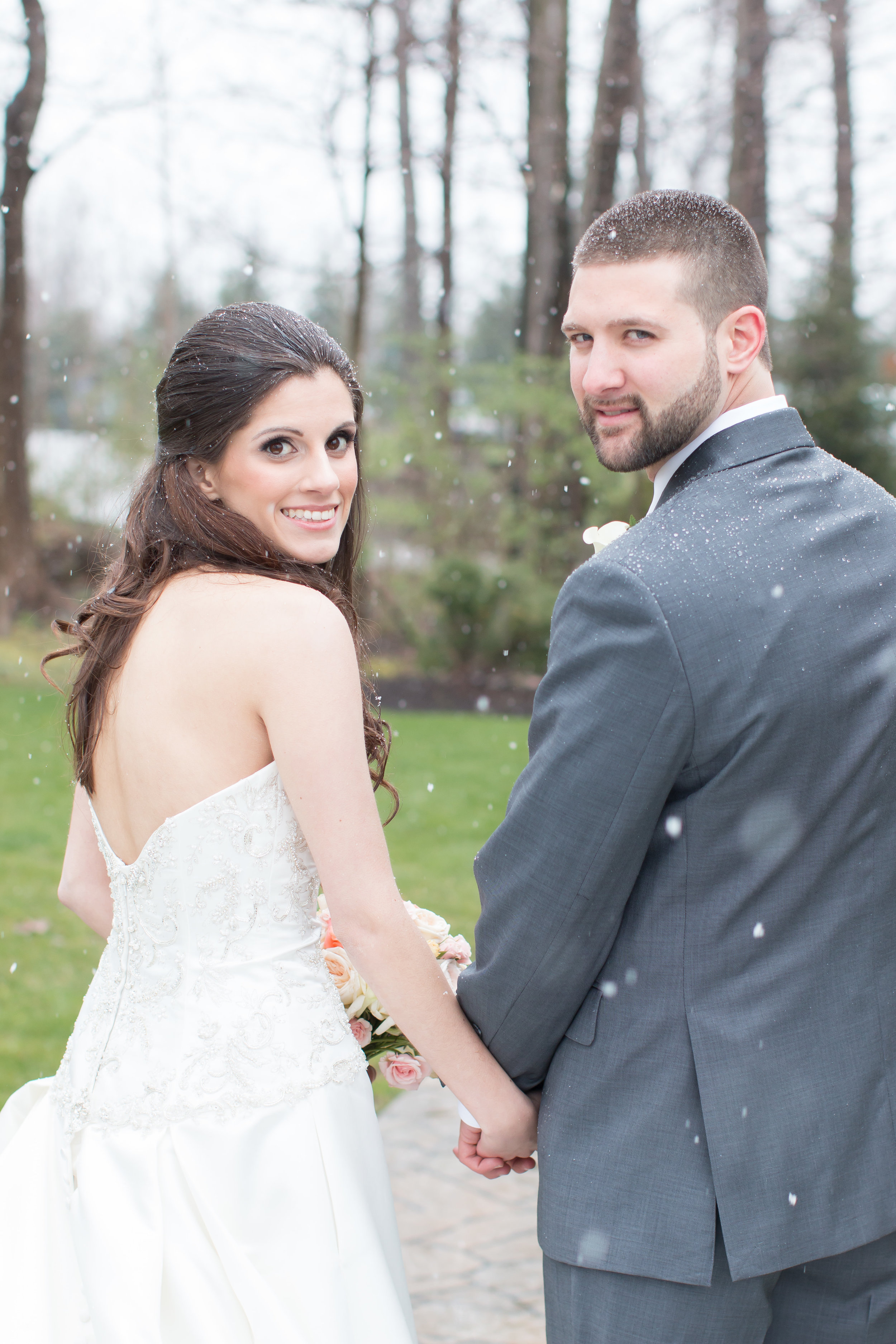 Snow in April!?!?! yeah, this couple rocked the surprise snow storm!