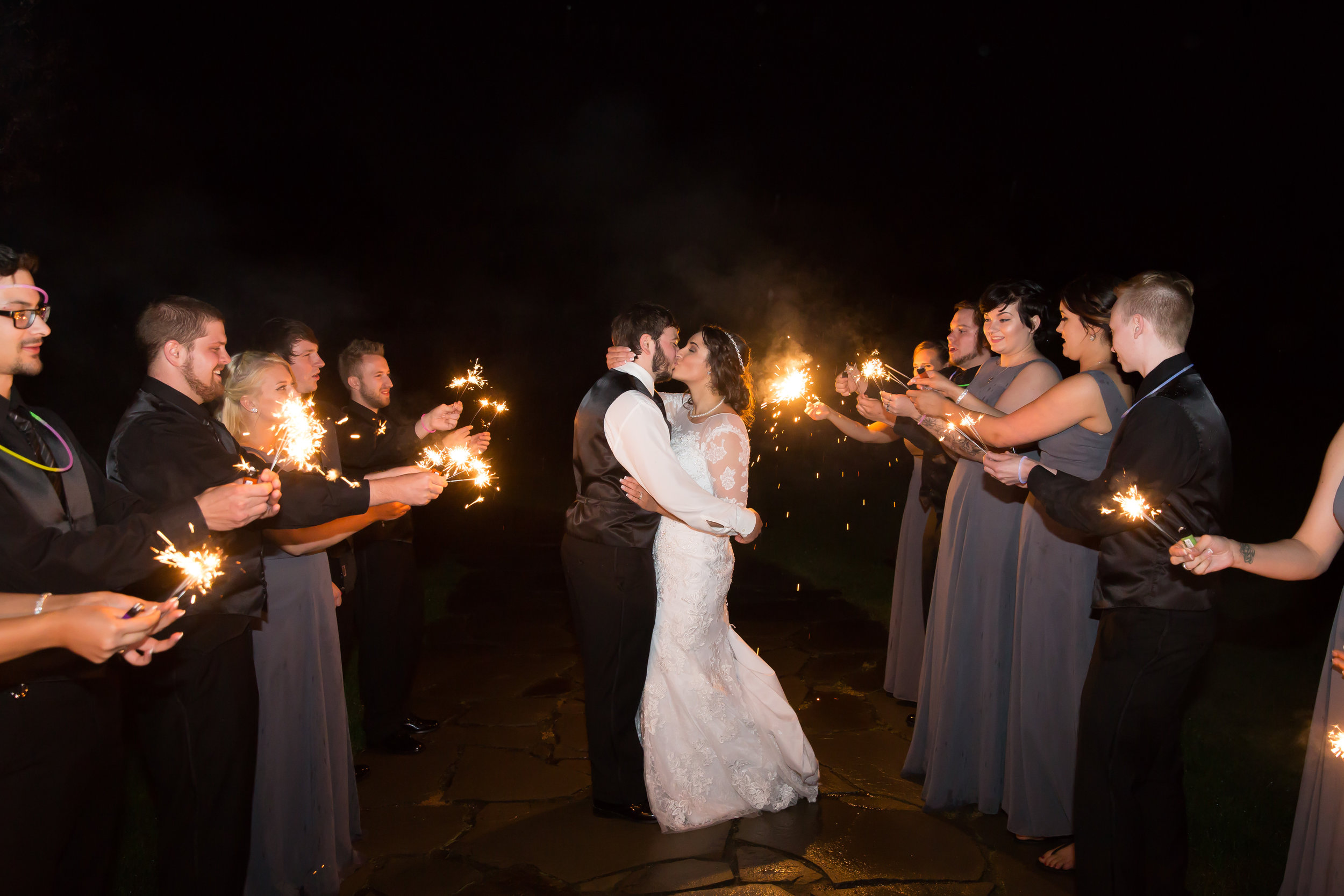 Who doesn't like a little fire at a wedding ;)