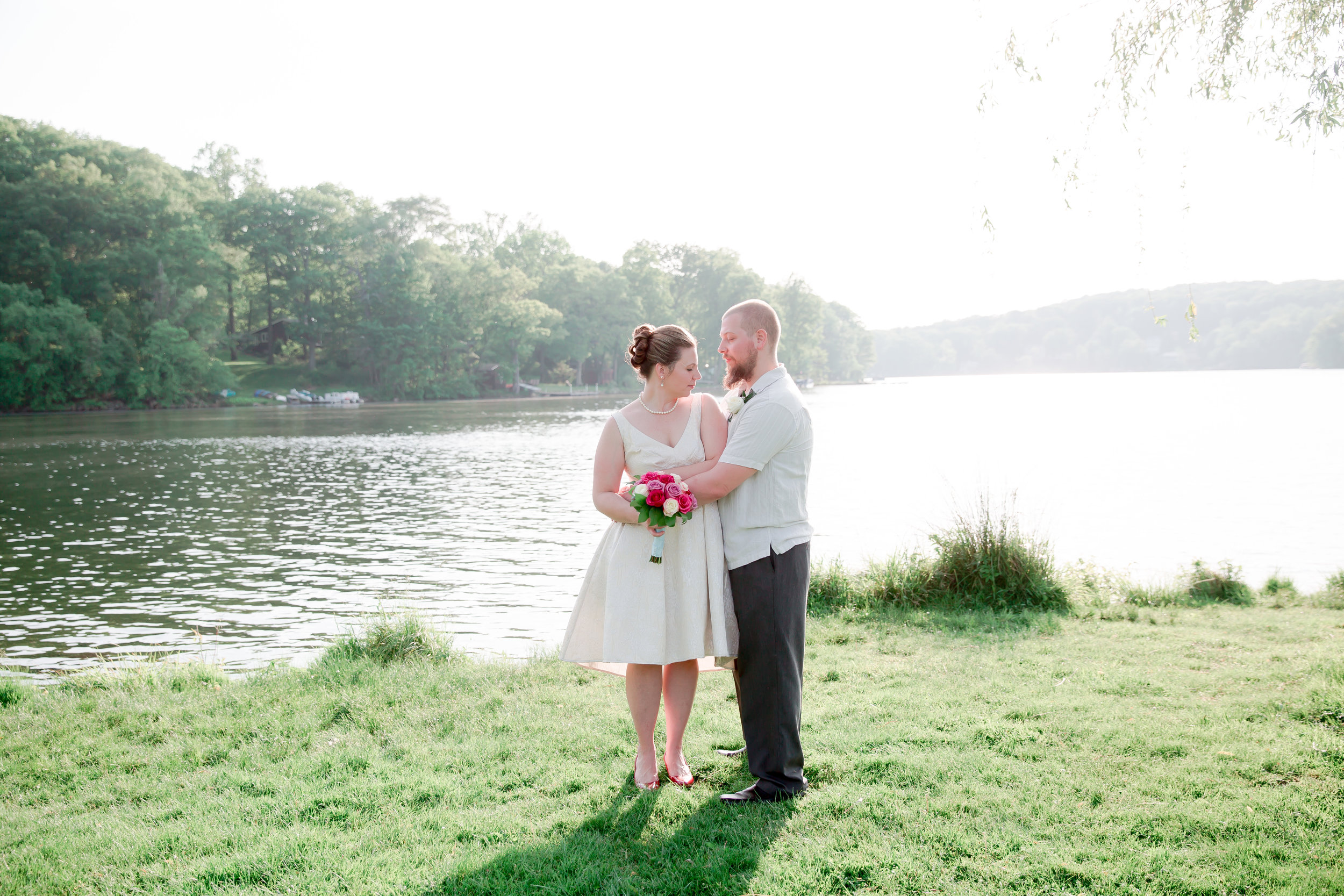 My sisters small intimate wedding was perfect!!! Lakeside with her love :)