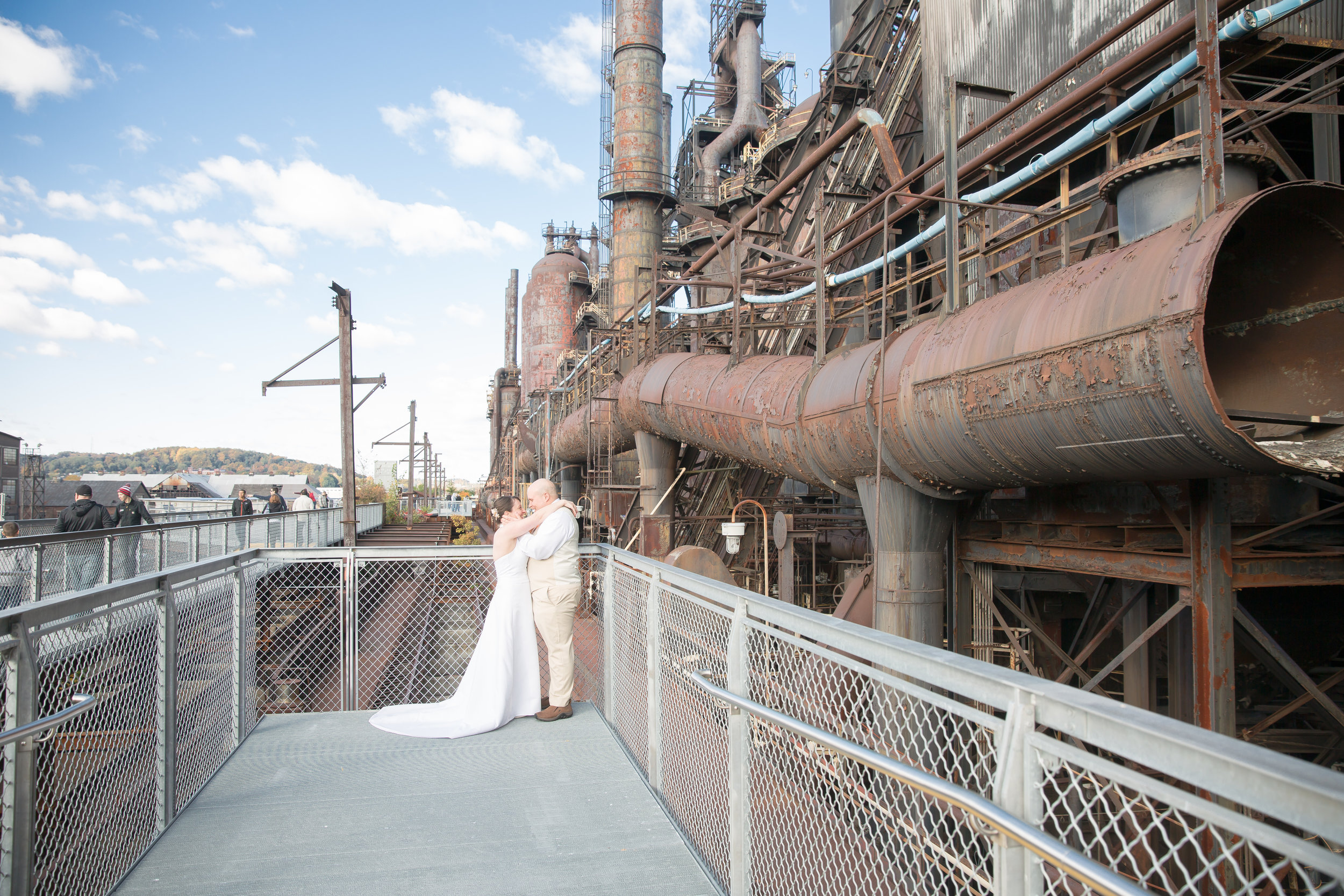 We are so blessed to live by such an amazing piece of history, Bethlehem Steel Stacks! Love Christine and Dom in this!