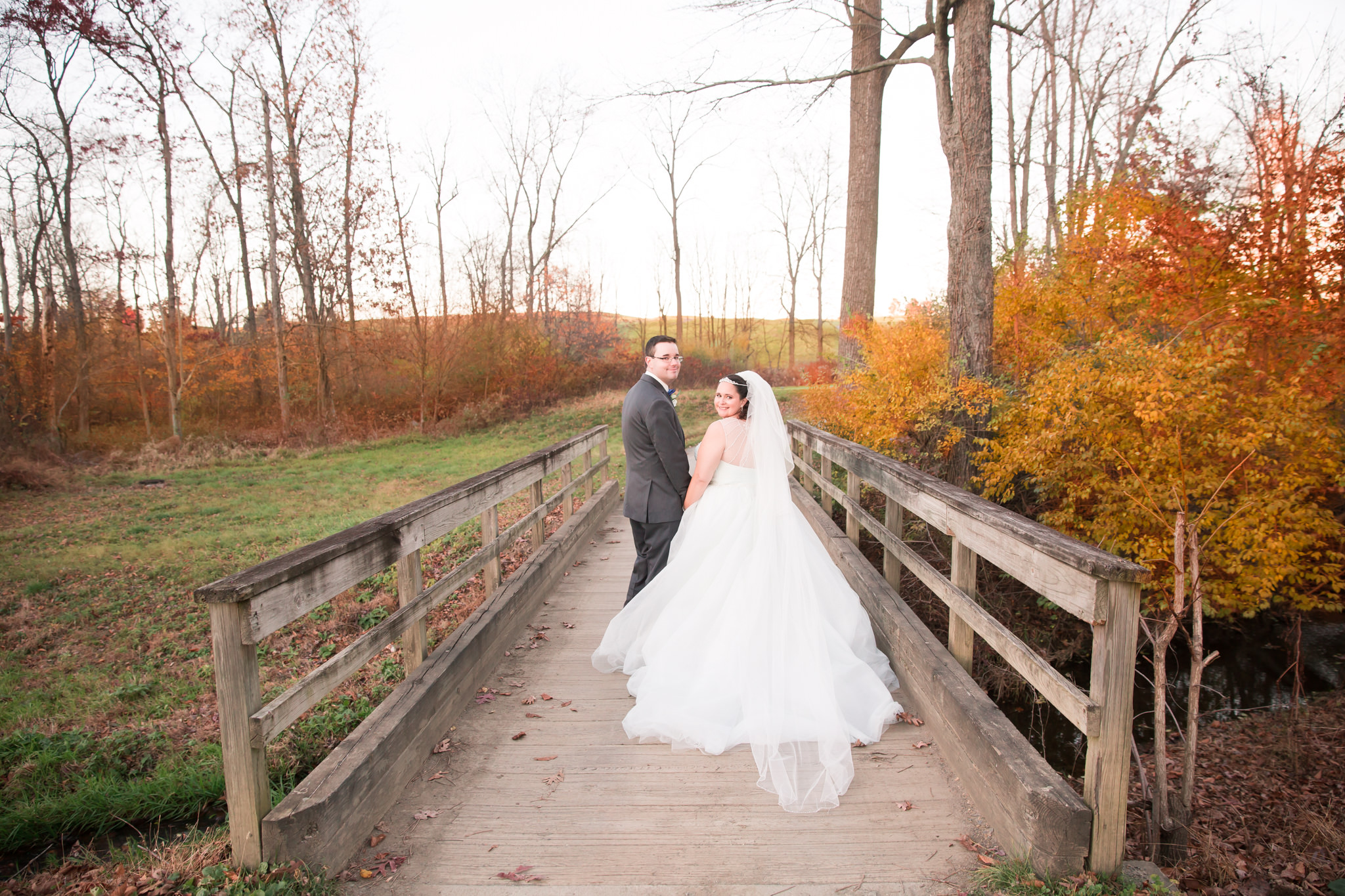 Beautiful fall day for Kasey and Justins wedding!