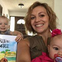 My cousin Adrienne and her two wonderful children after receiving their copy of the first book in the series.