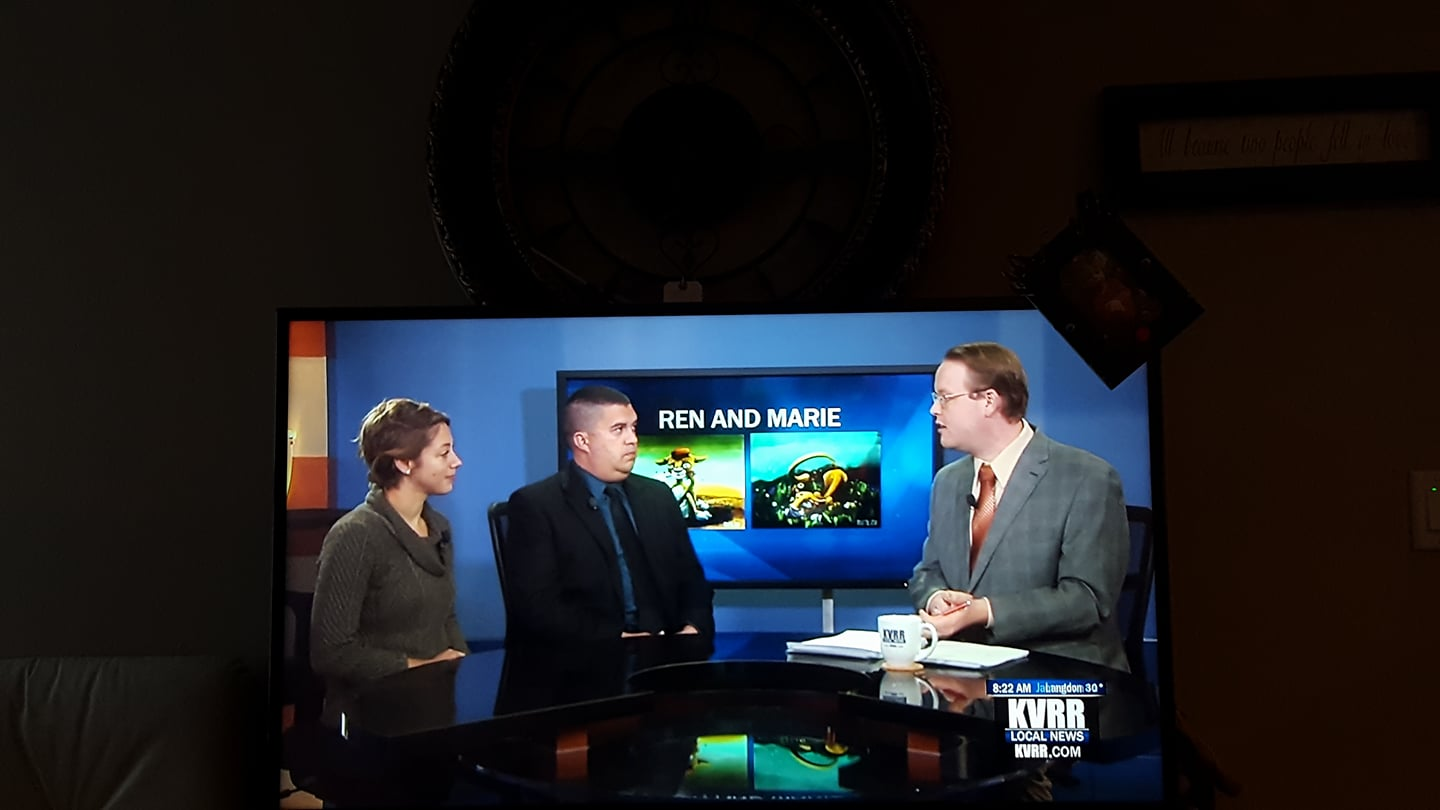 Live interview on KVRR morning show with Adam Ladwig, October 25, 2017
